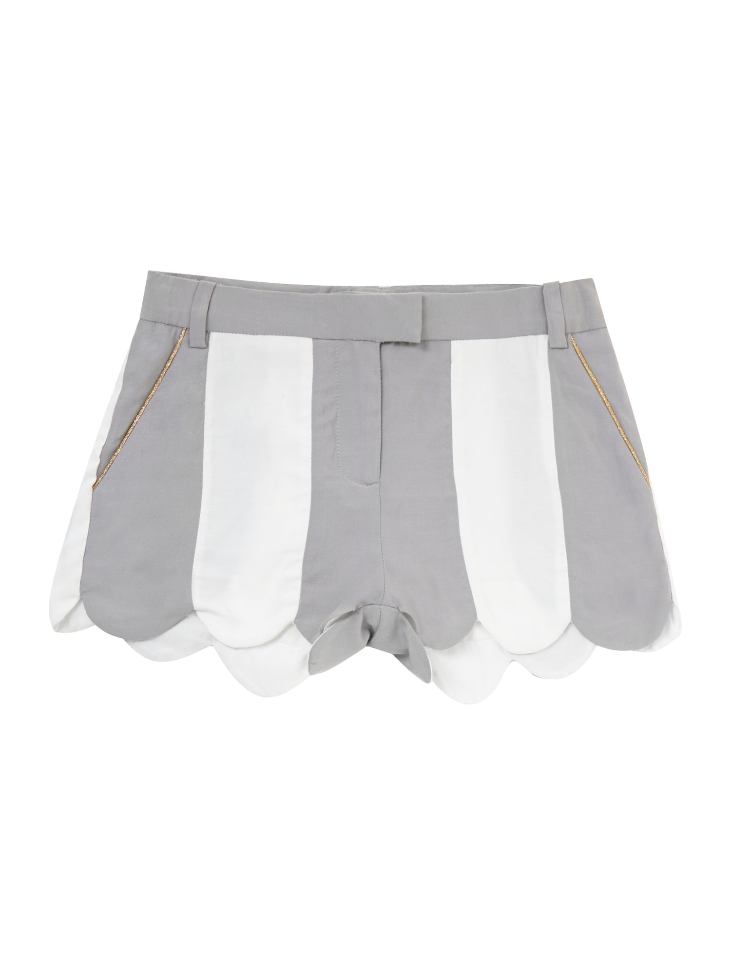 Girl`s stripe twill shorts