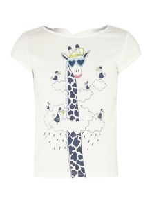 Girls animal short sleeve t-shirt