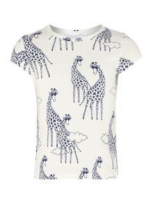 Girls giraffe short sleeve t-shirt