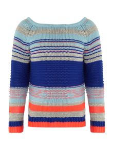 Girl`s knitted long sleeve jumper