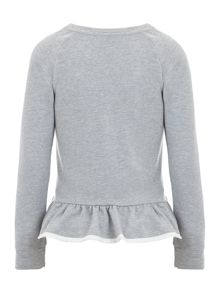 Girl`s fleece long sleeve jumper