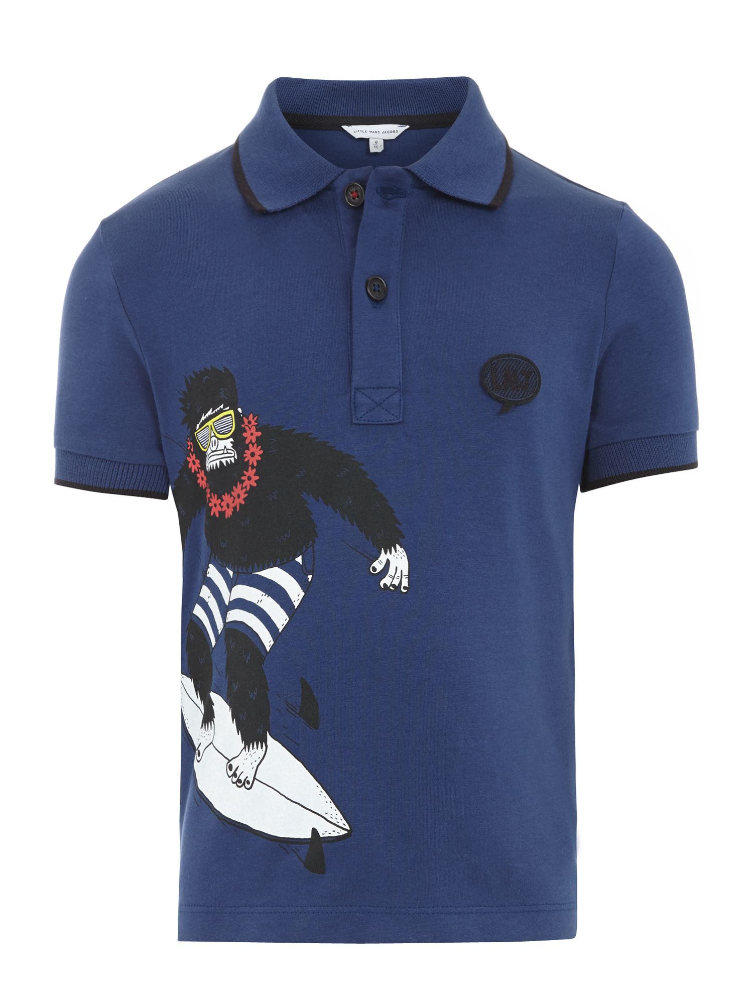 Boy`s illustration polo shirt