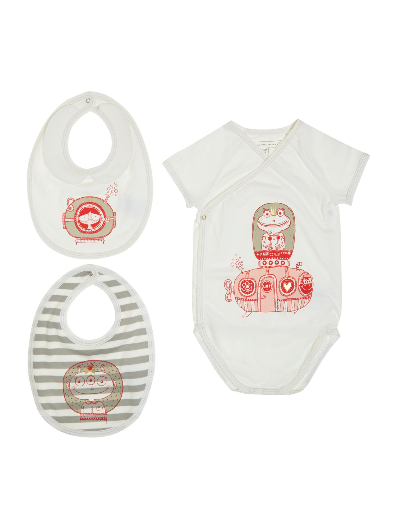 Girl`s bodysuit with 2 bibs