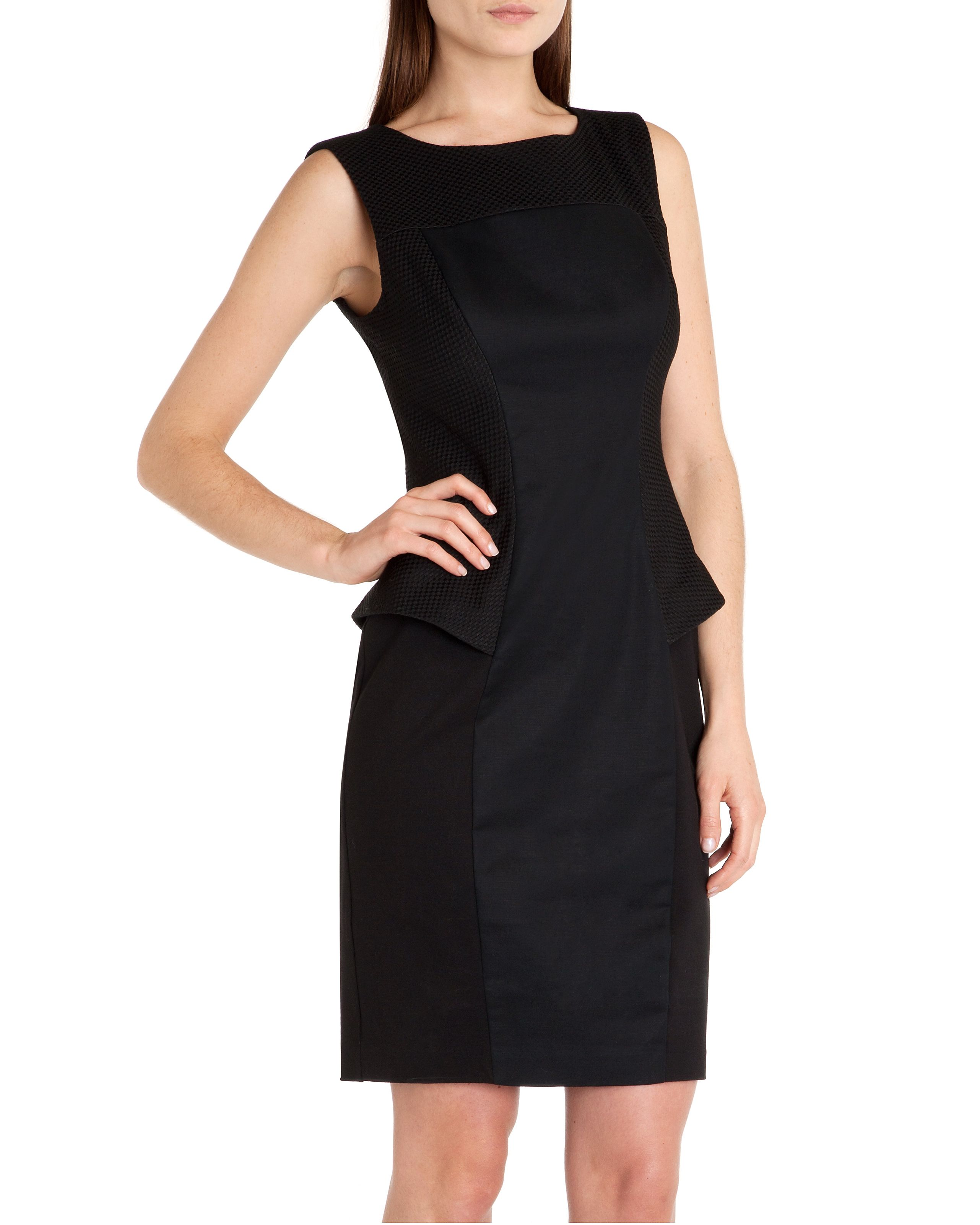 Aneta Structured peplum dress