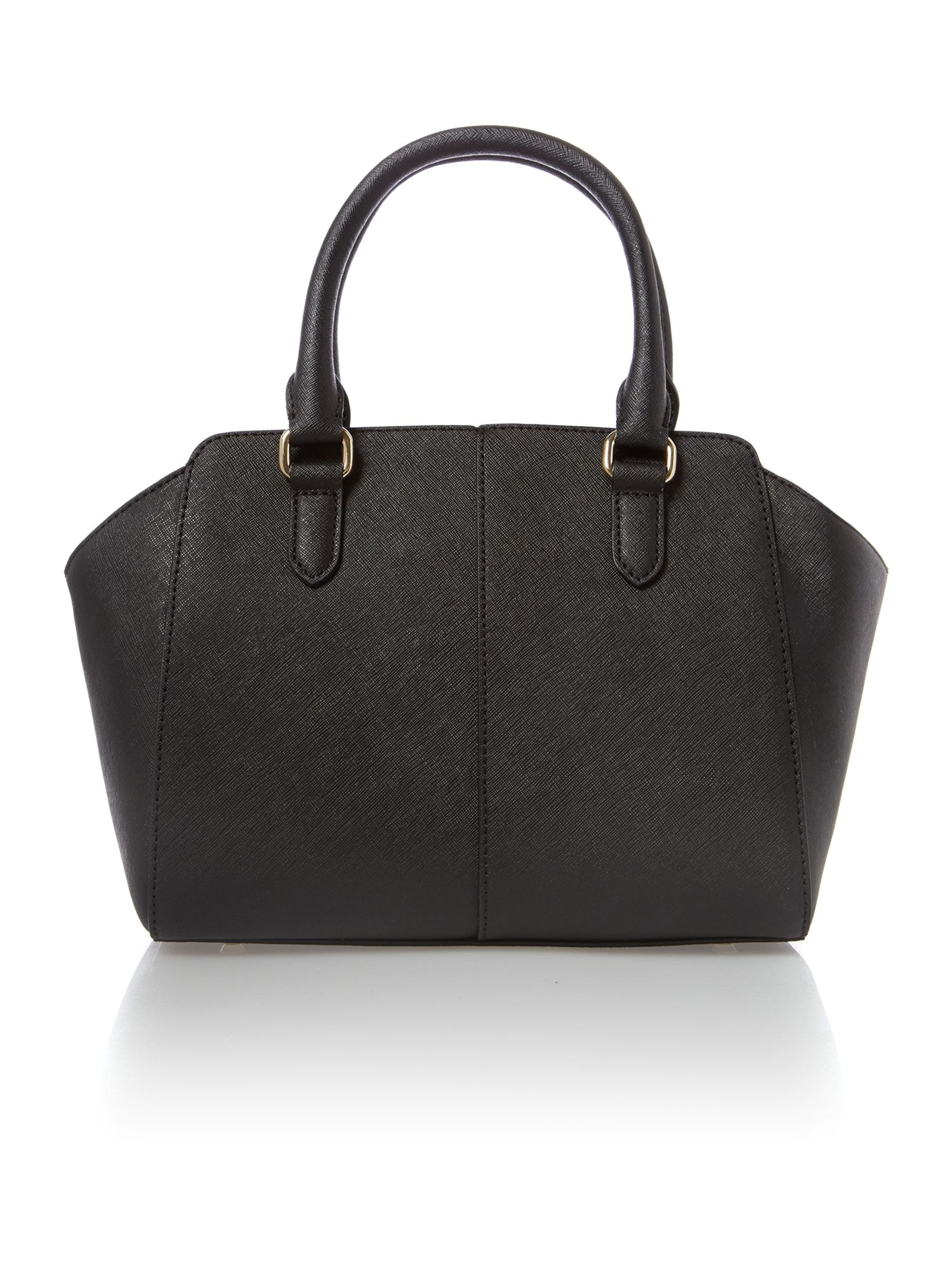 Saffiano black small tote bag