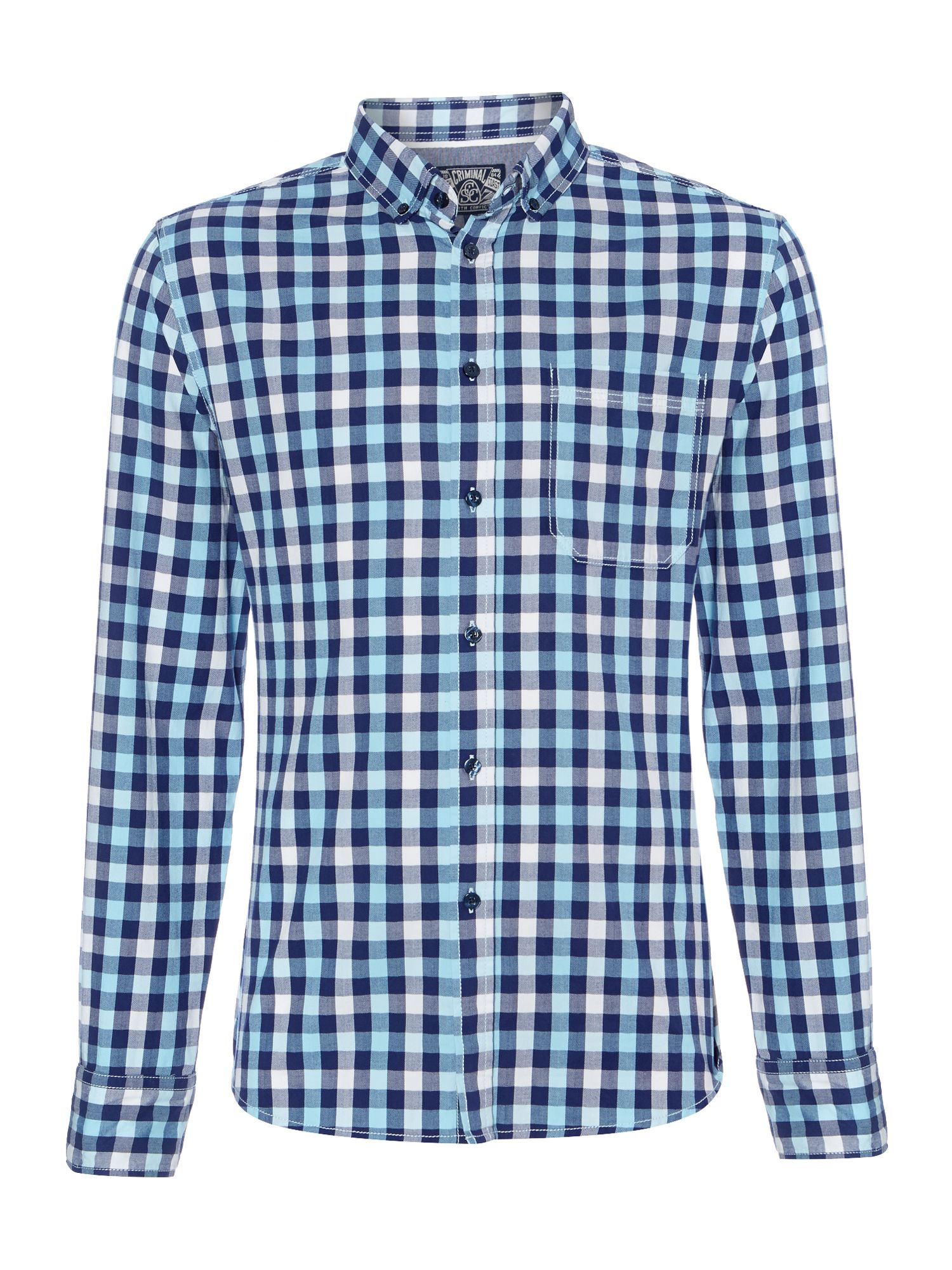 Vegas gingham long sleeved shirt