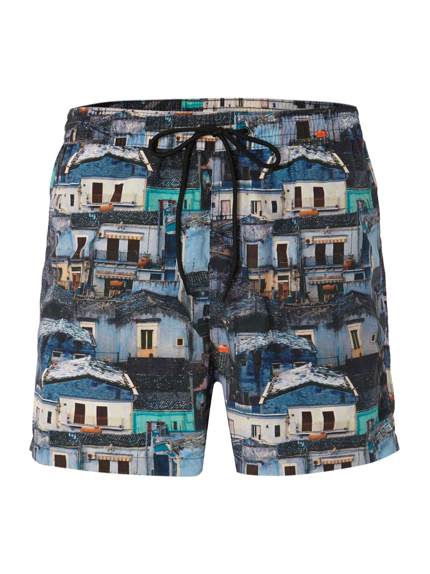 All over photograph print swim short