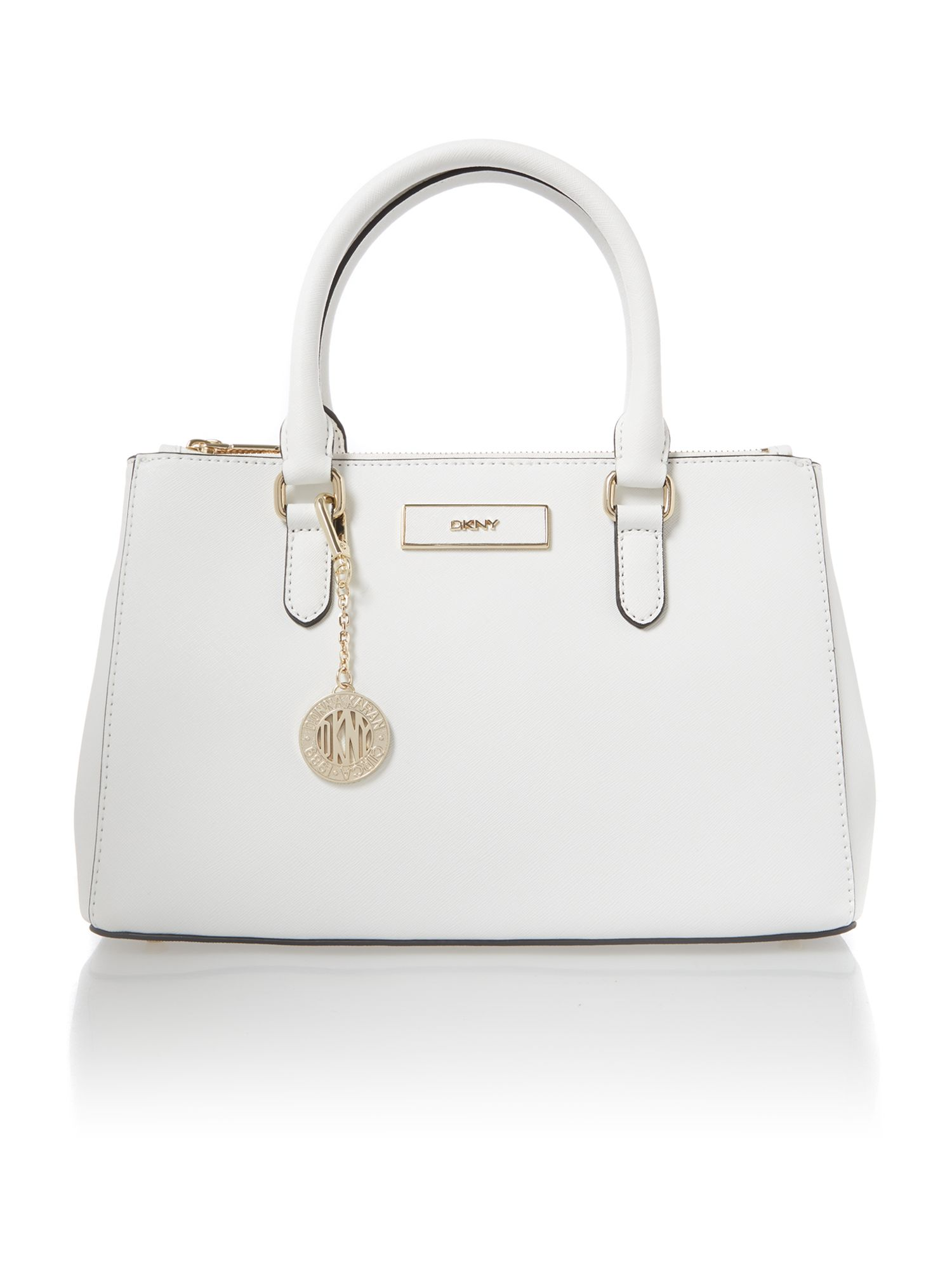Saffiano white small tote bag