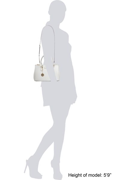 DKNY Saffiano white small tote bag