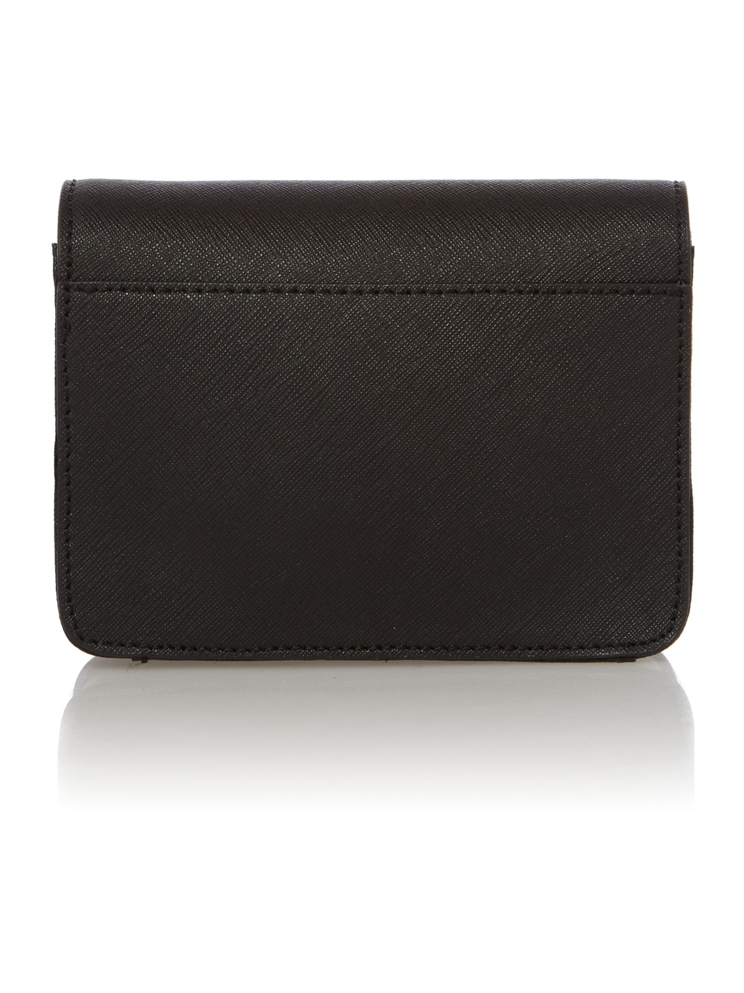Saffiano black mini crossbody bag