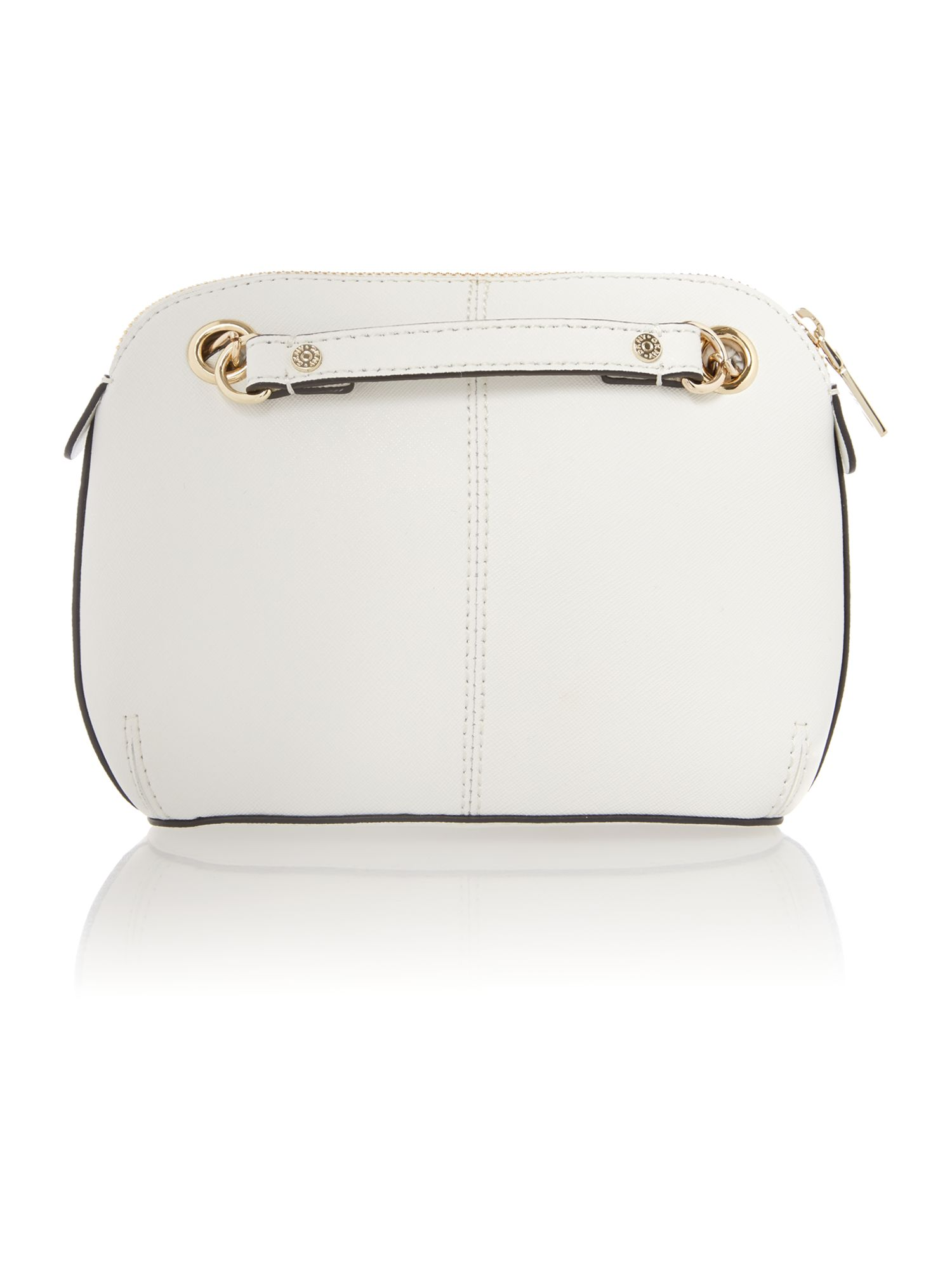 Saffiano white small crossbody bag