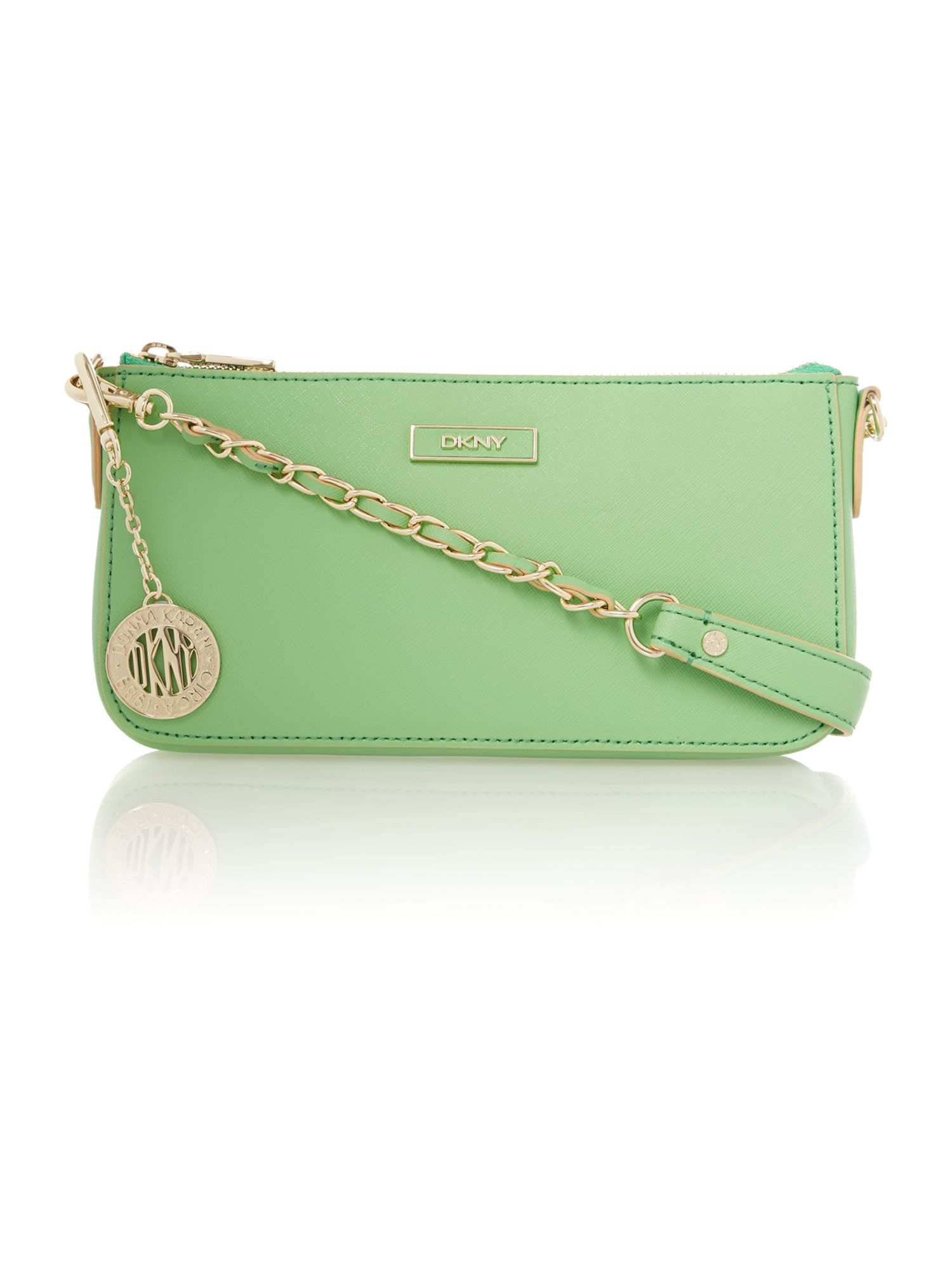 Saffiano green small shoulder bag