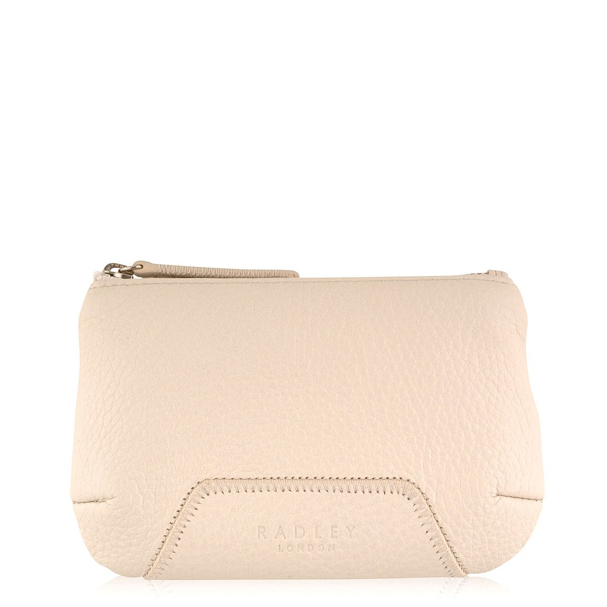 Nude medium zip pouch