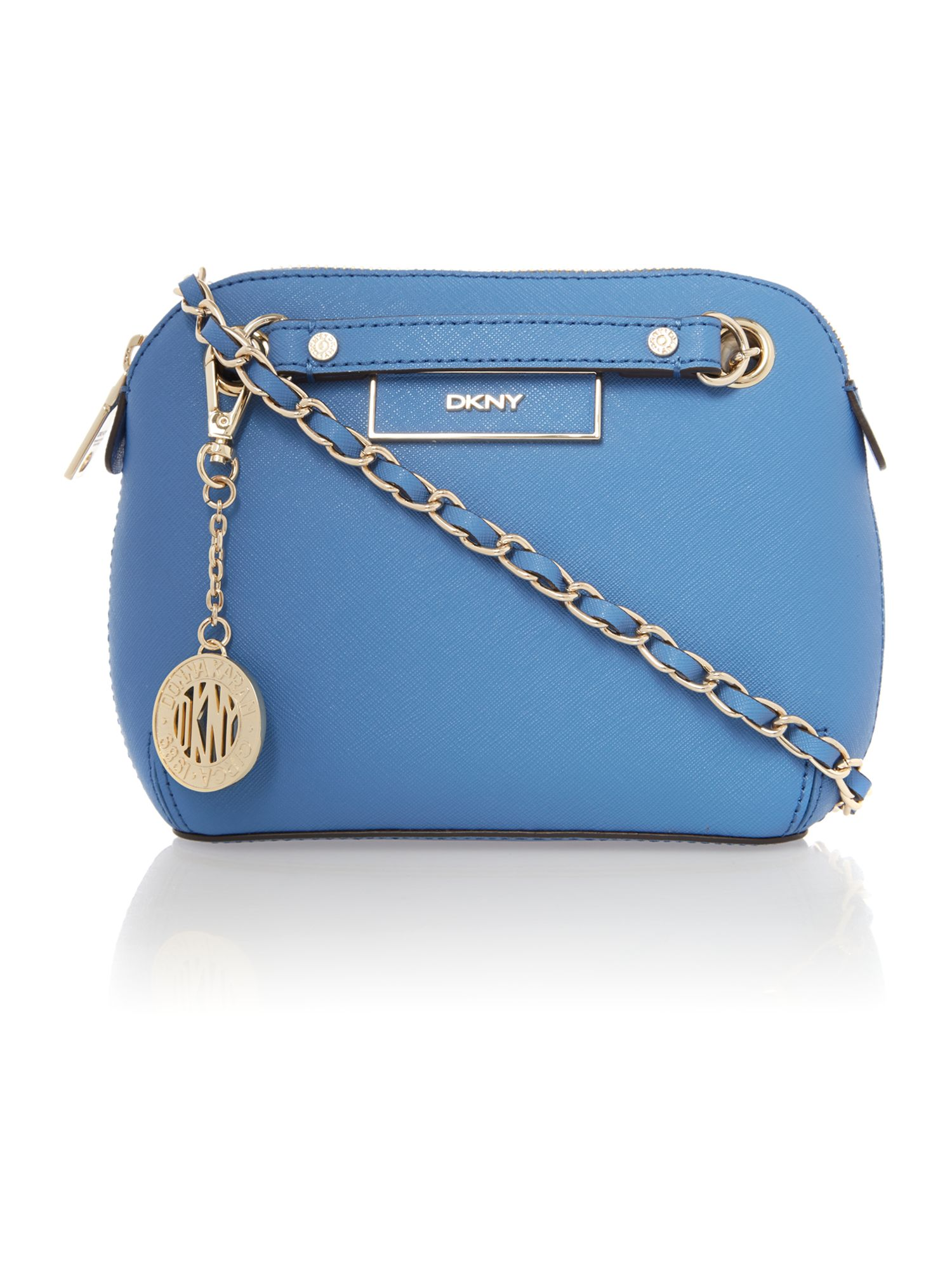 Saffiano blue small crossbody bag
