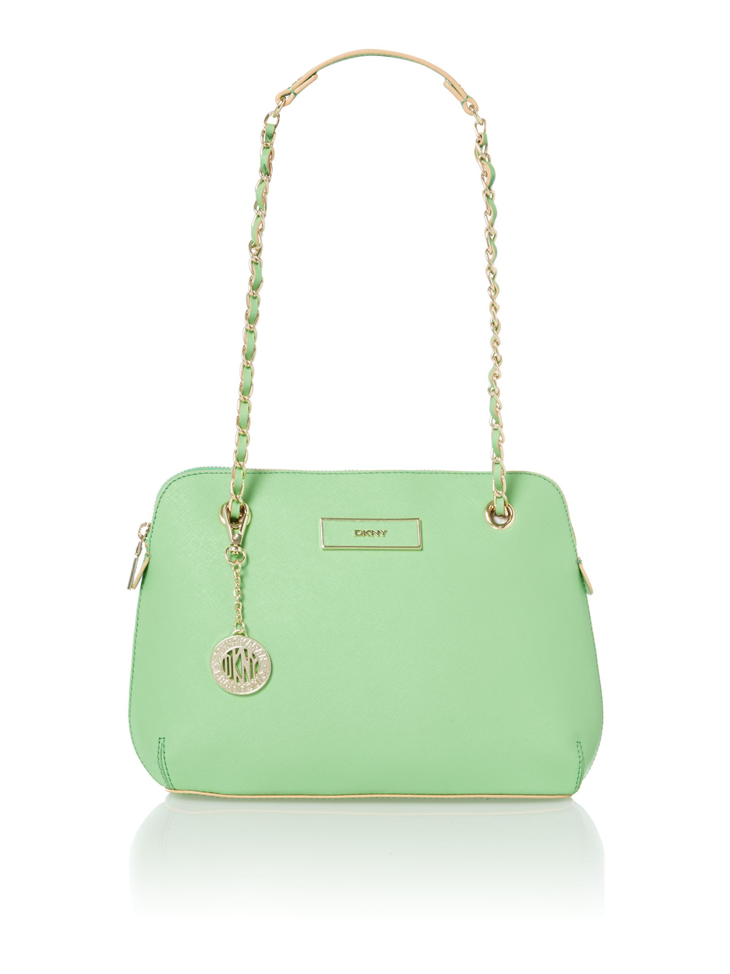 Saffiano green medium crossbody bag
