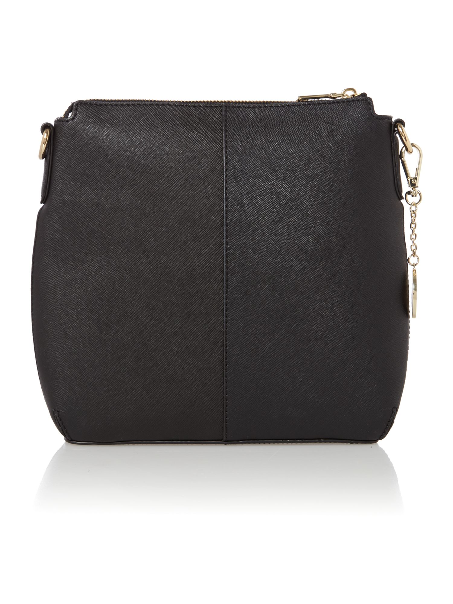 Saffiano black crossbody bag