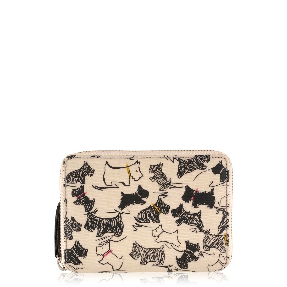 Doodle dog multi-coloured medium zip around purse