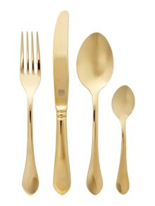 Biba Odette 24 piece gold cutlery set