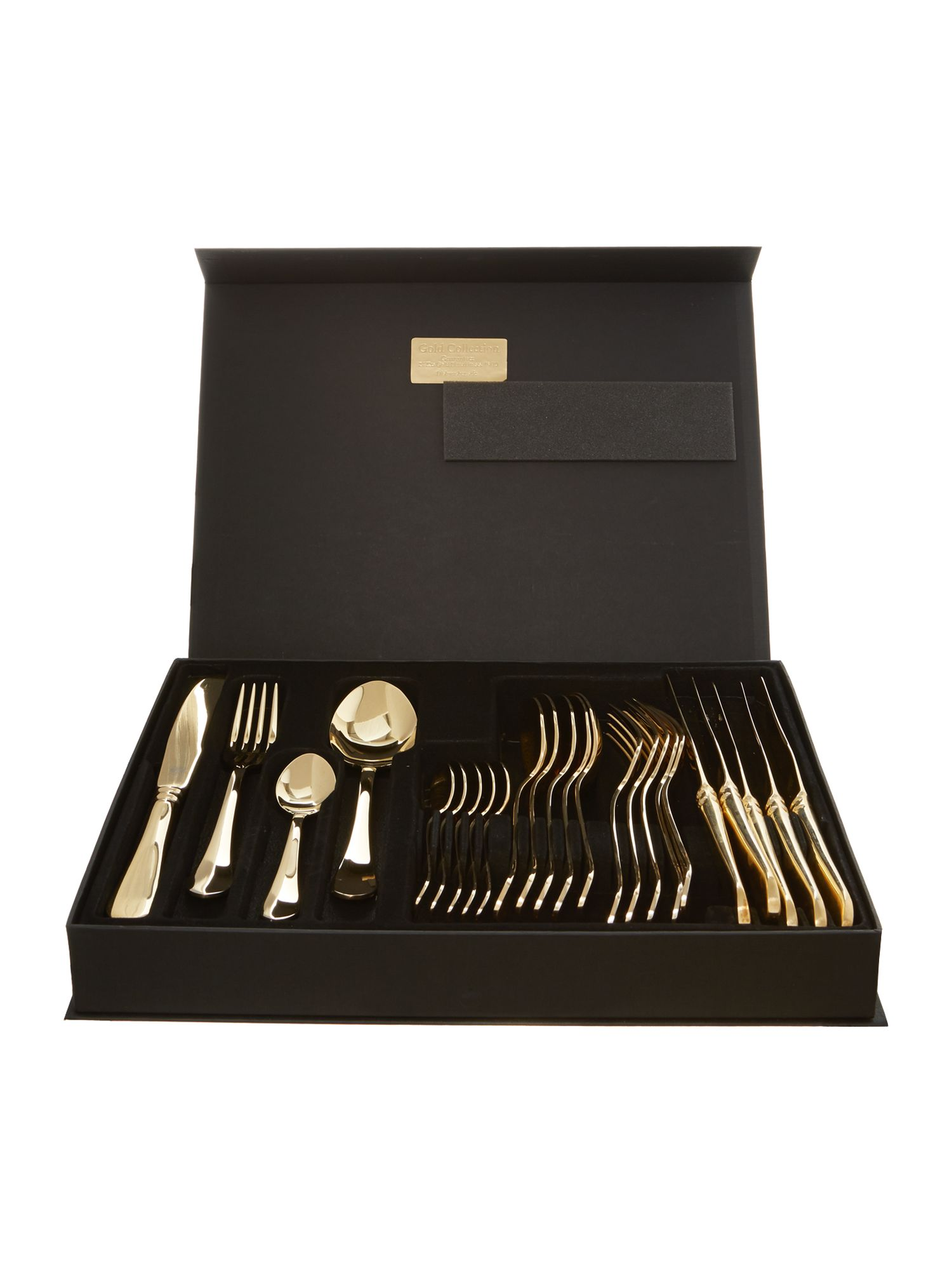 Odette 24 piece gold cutlery set