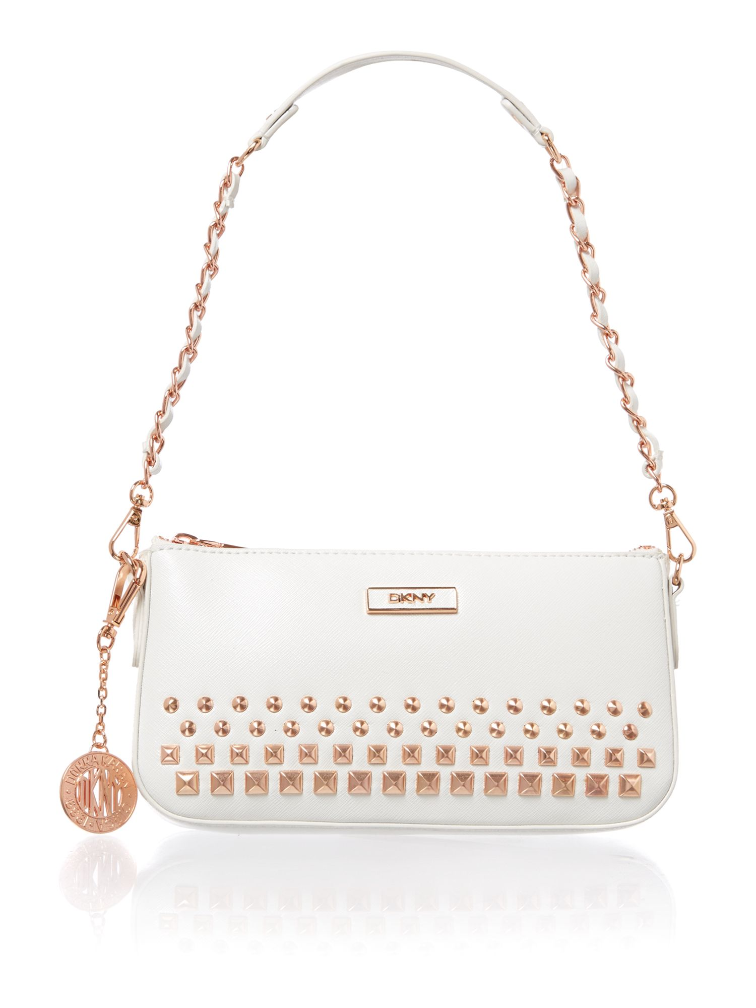 Saffiano white small shoulder bag