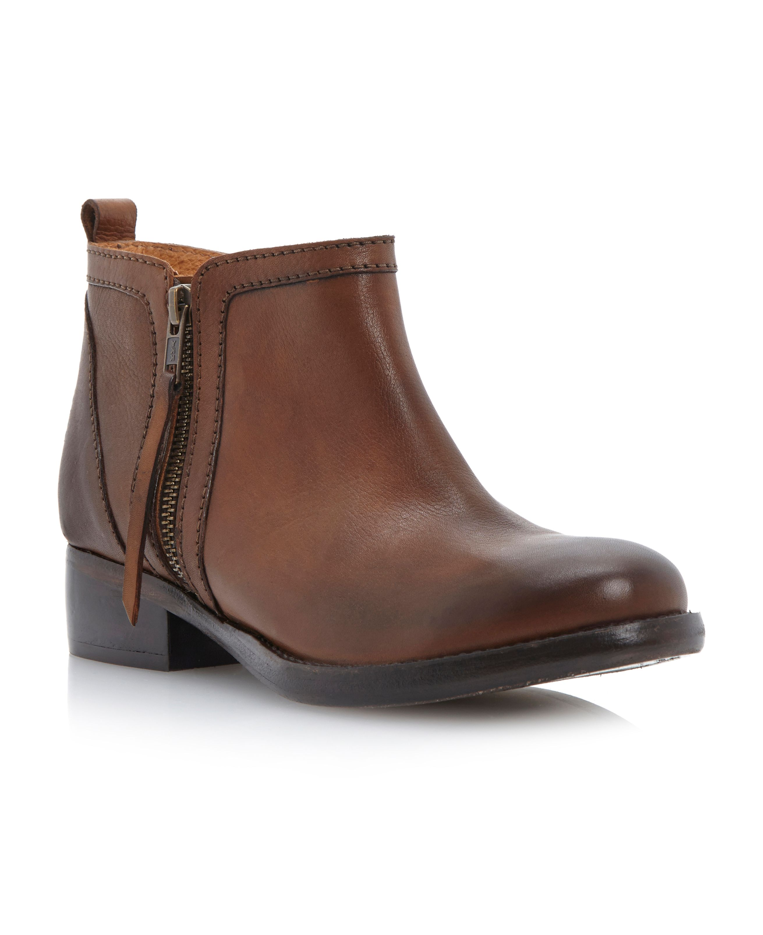 Pasco zip side burnished boots
