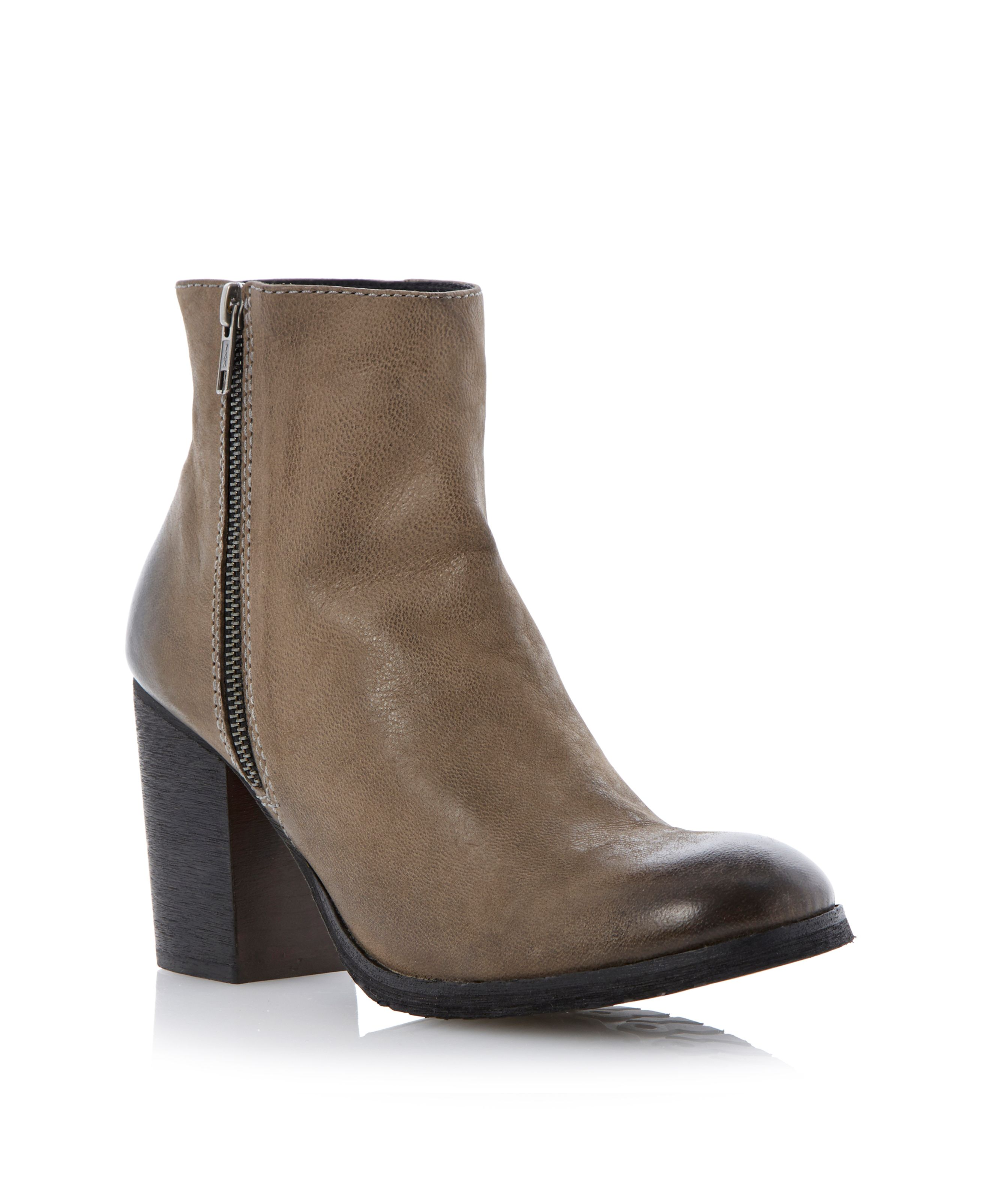 Prowess round toe zip side ankle boots