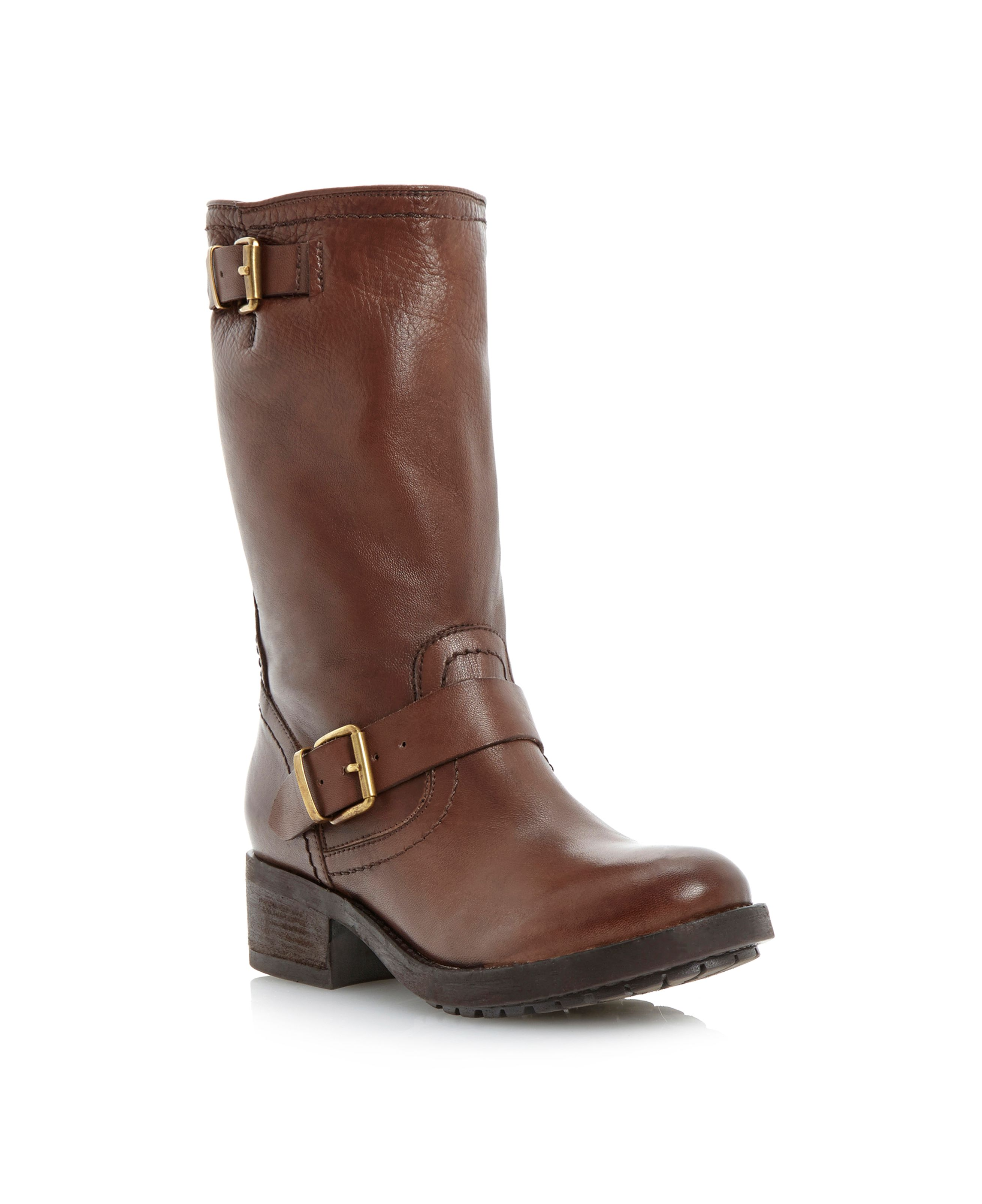 Rosamund cleated sole biker boots