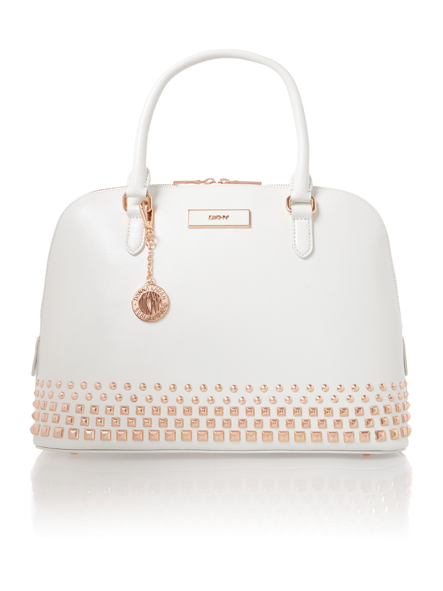 Saffiano white dome bag