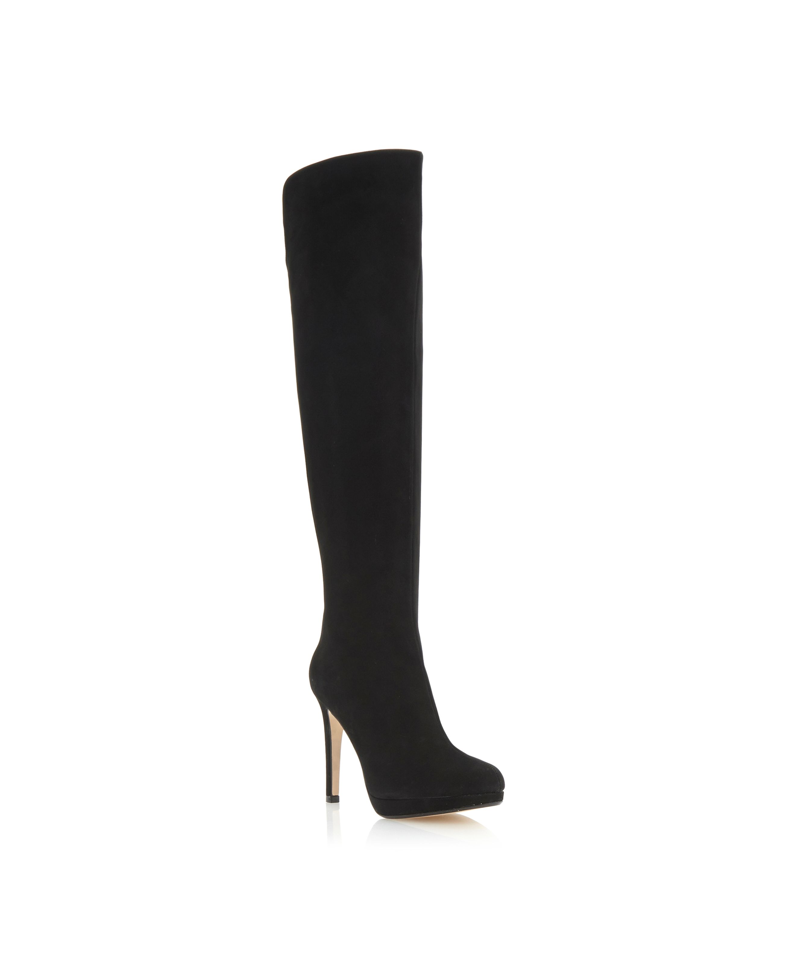 Scissors slim platform back zip high boots