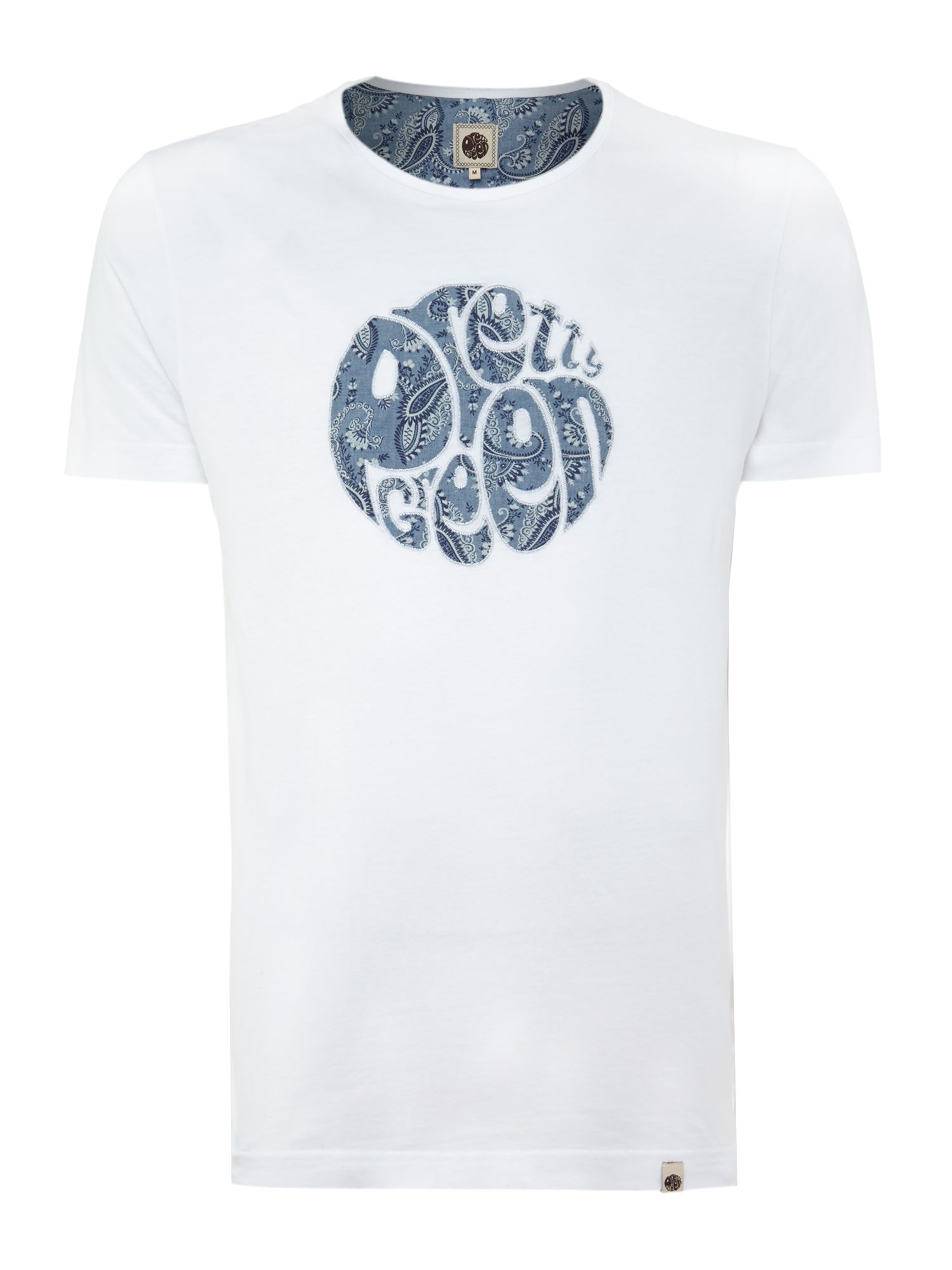 Paisley applique logo t shirt