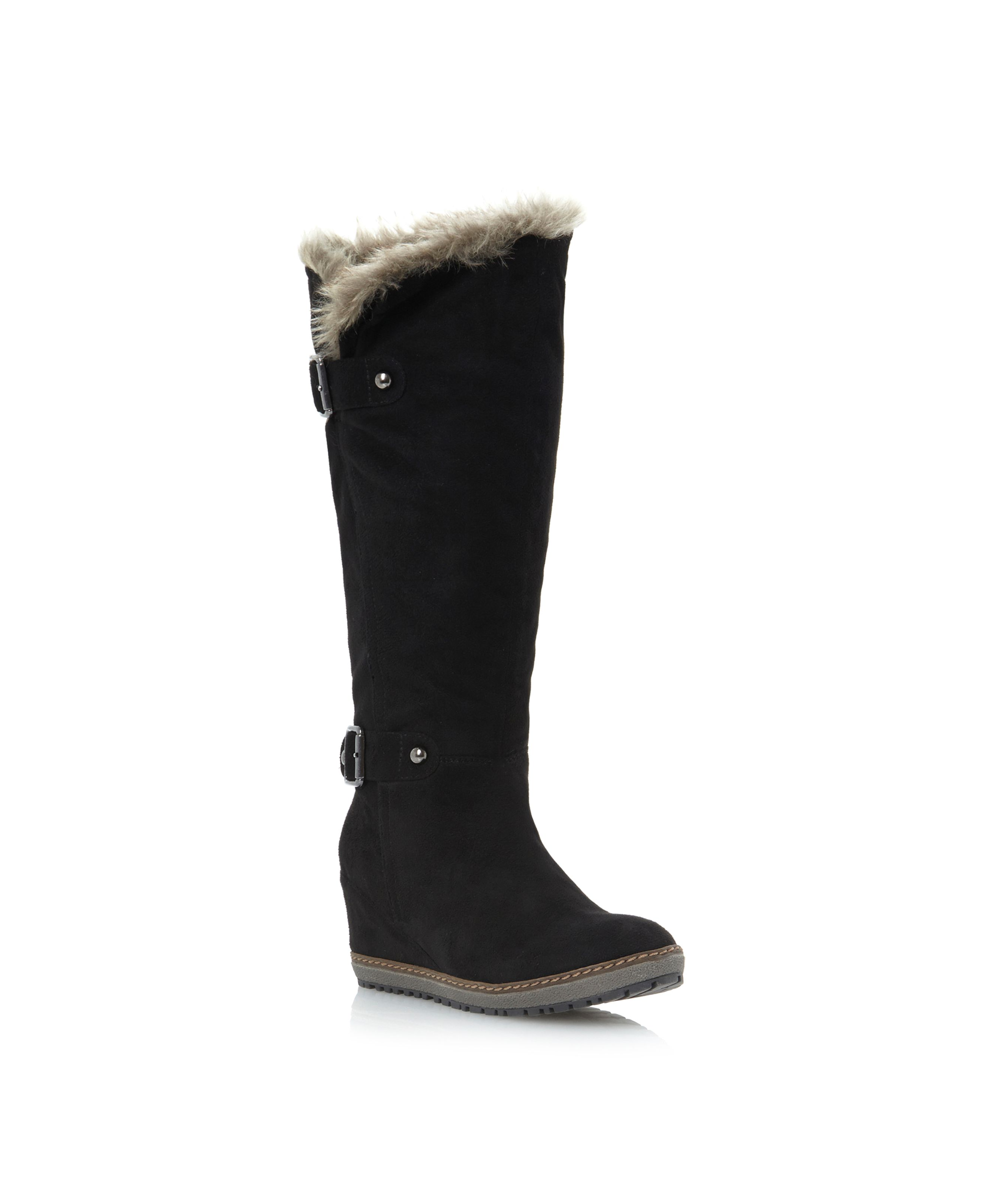 Tarzan overlasted wedge knee boots