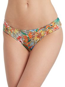 Paradise reversible ruched side hipster brief