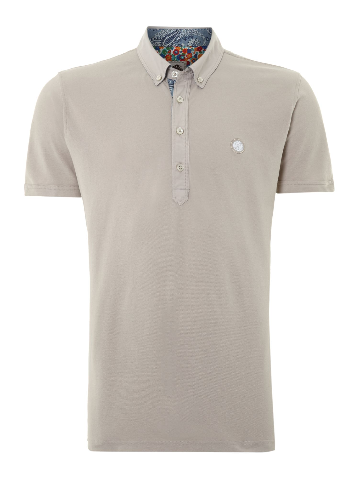 Poplin collar polo shirt