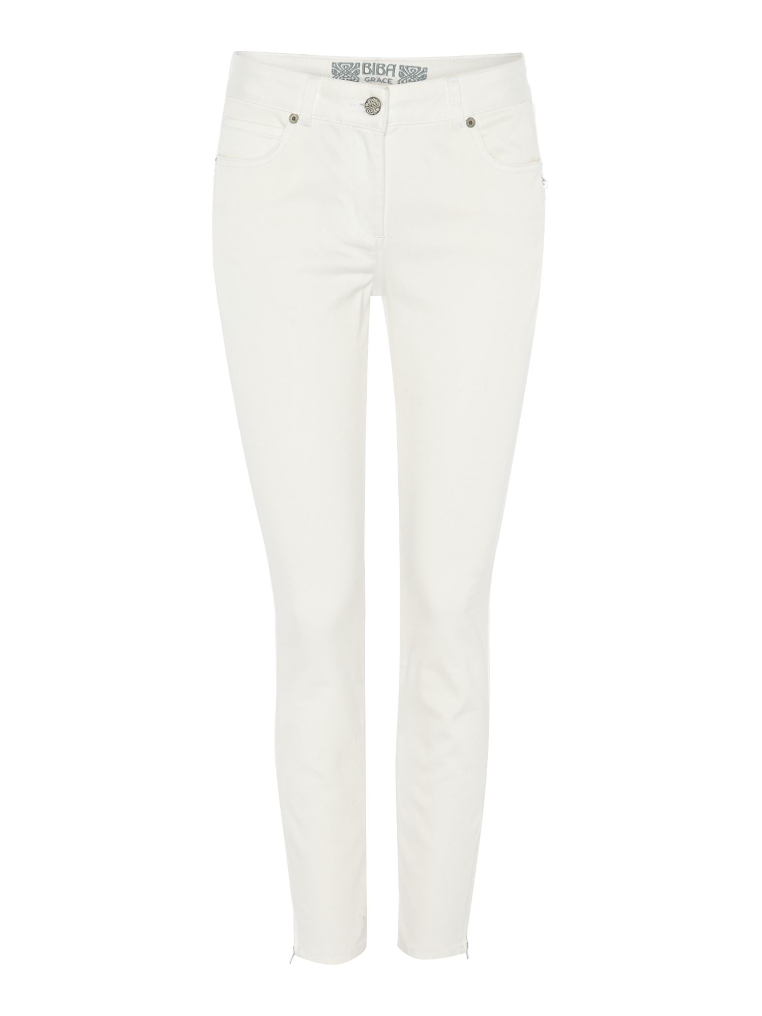 Ankle zip detail jeans