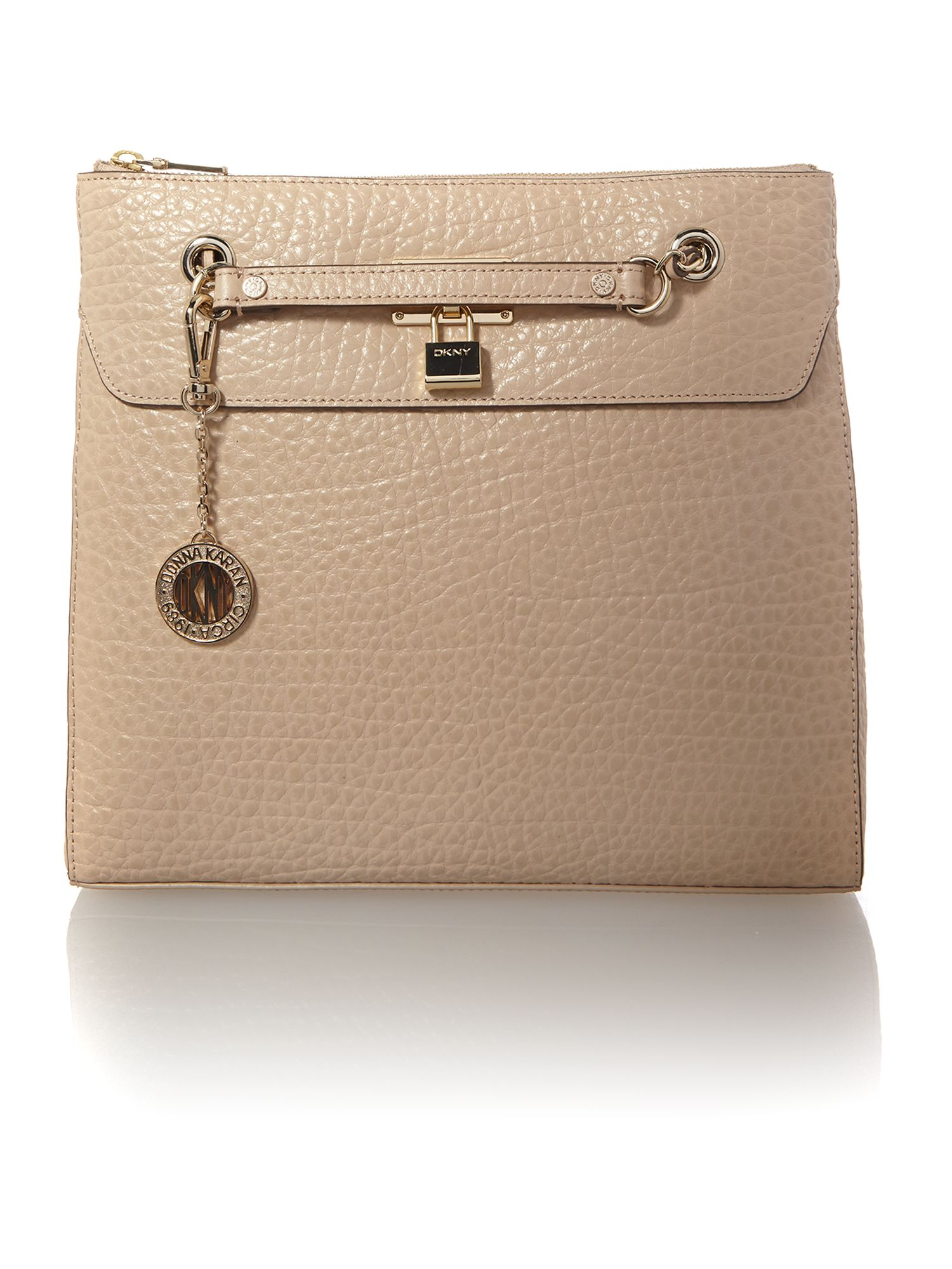 French grain neutral shoulder bag