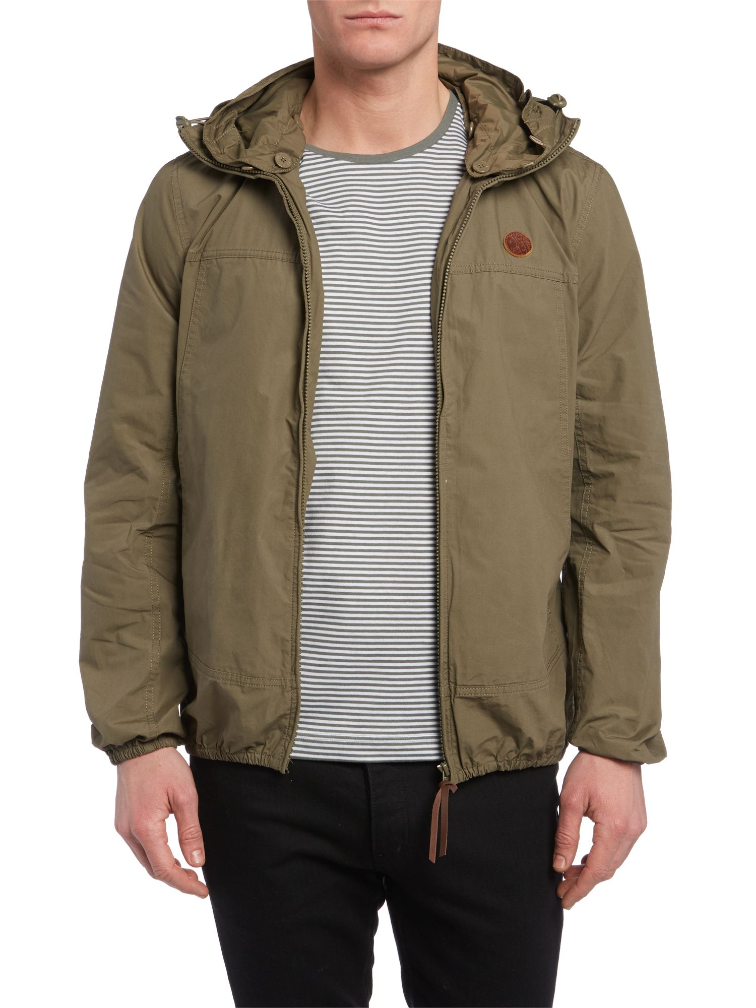 Two pocket hooded festival jacket