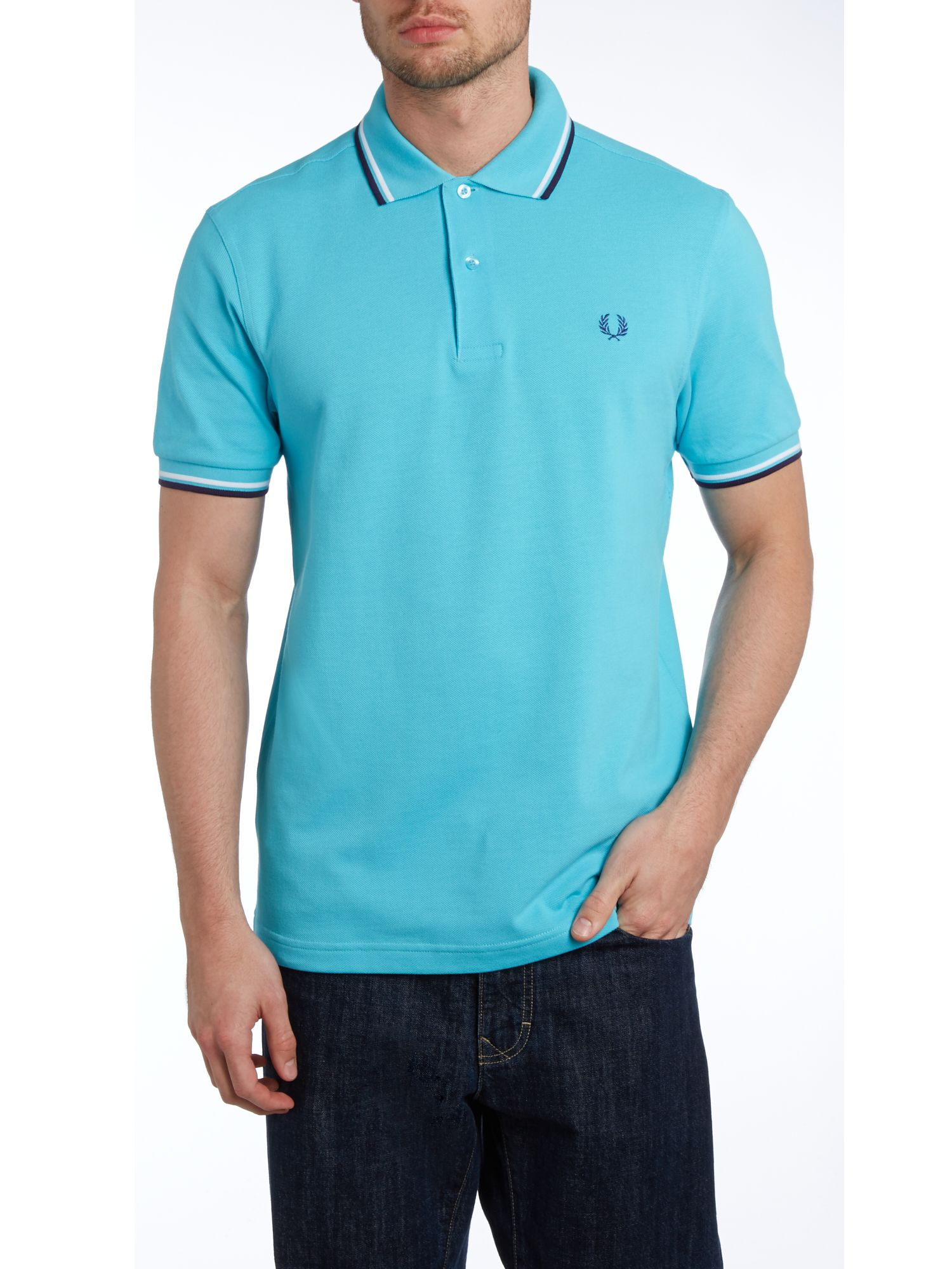 Twin tipped regular fit polo shirt