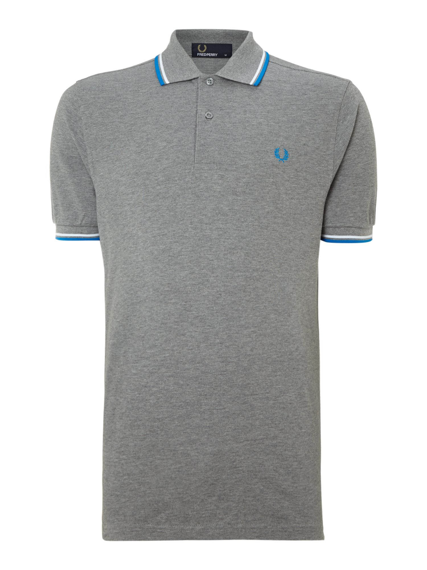 Men&39s Fred Perry Twin tipped regular fit polo shirt Steel