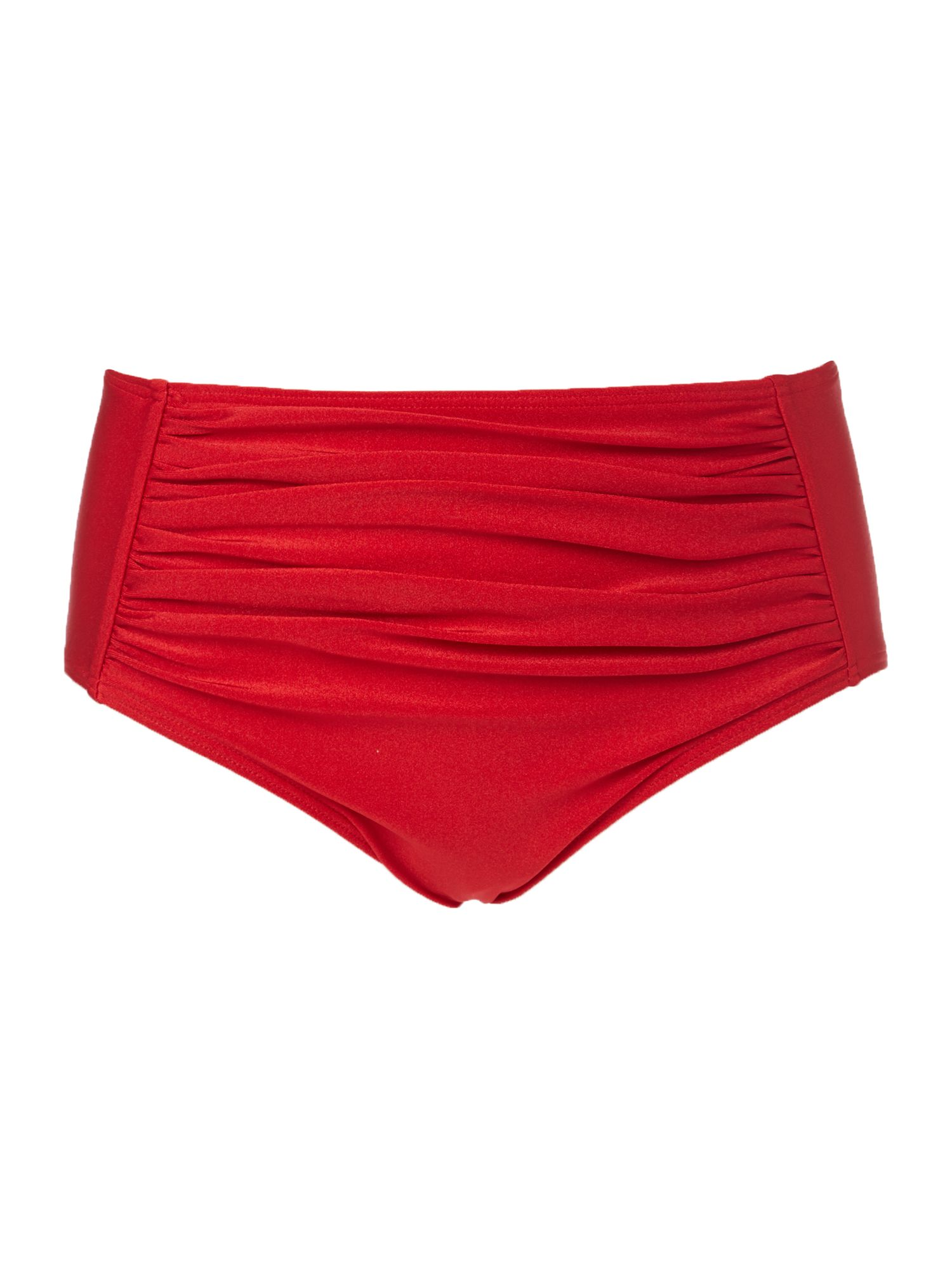 Pleats mesh retro brief