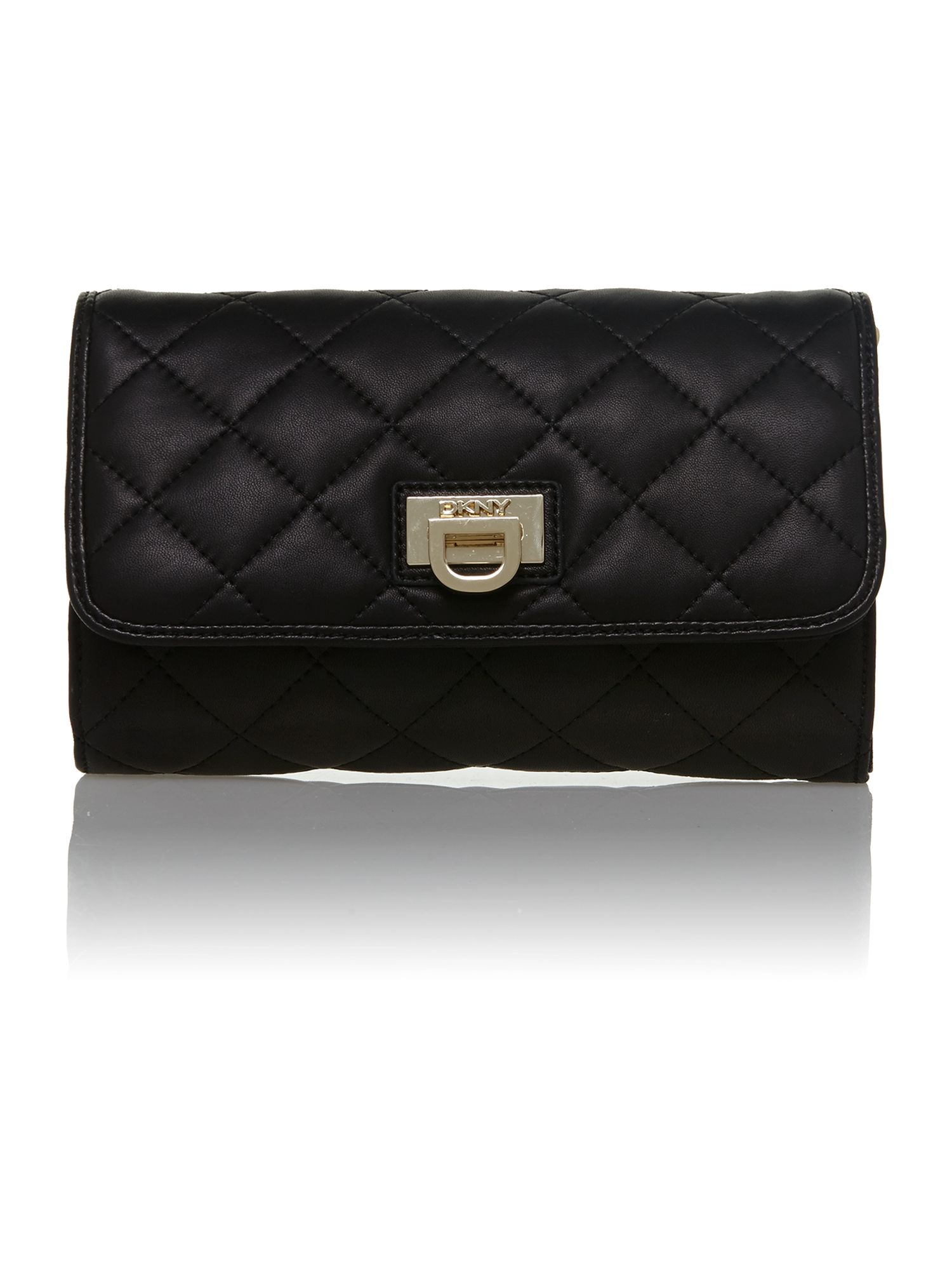 Quilted nappa black small crossbody bag