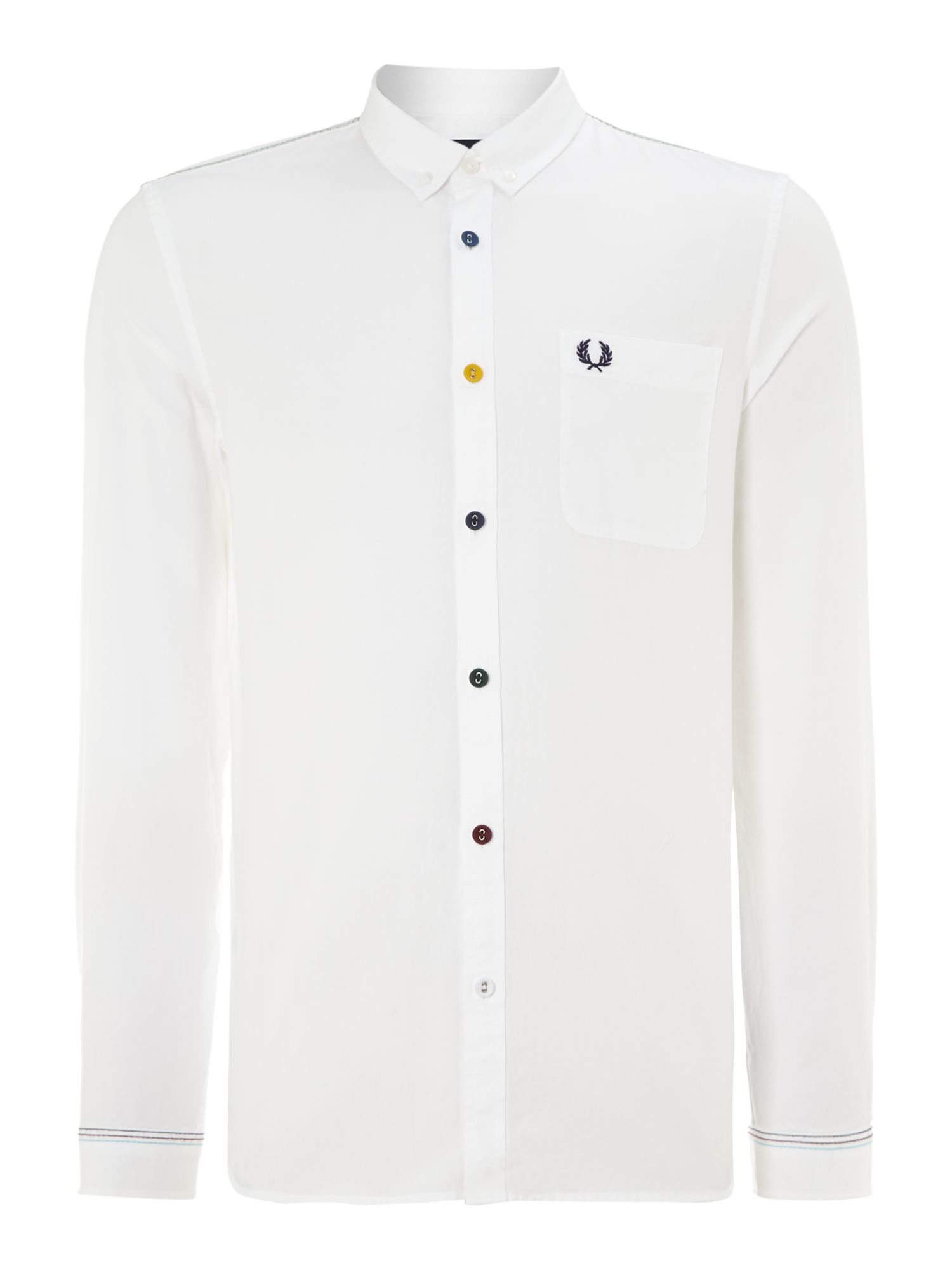Long sleeve coloured button shirt
