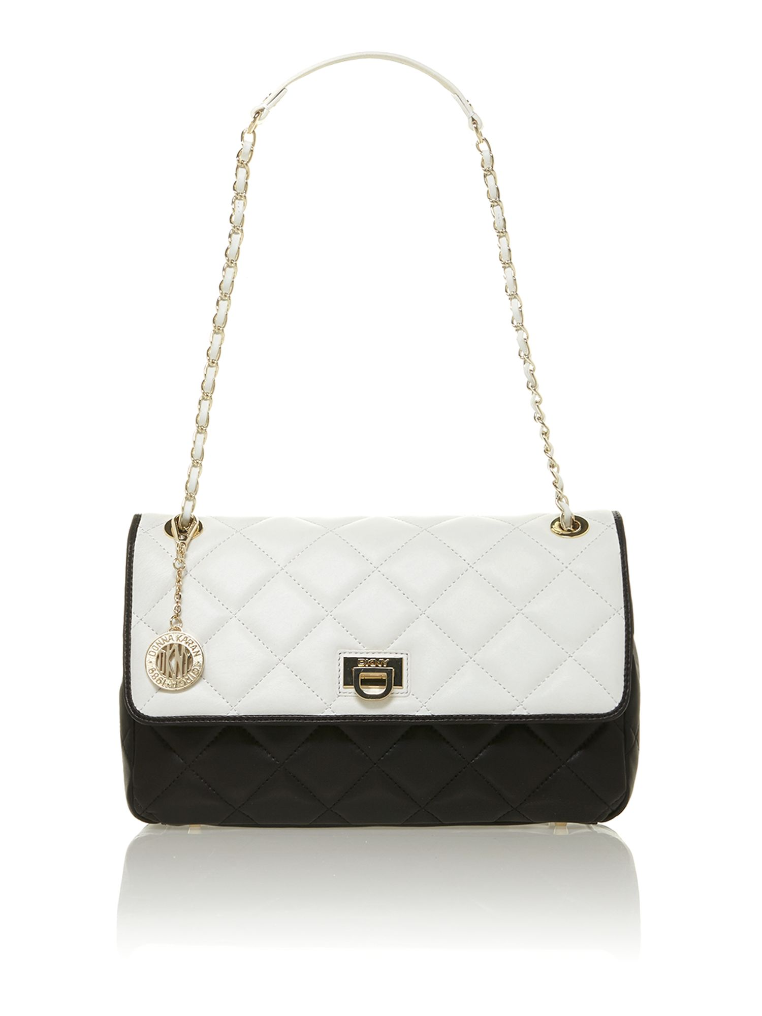 Quilted nappa multi-coloured shoulder bag