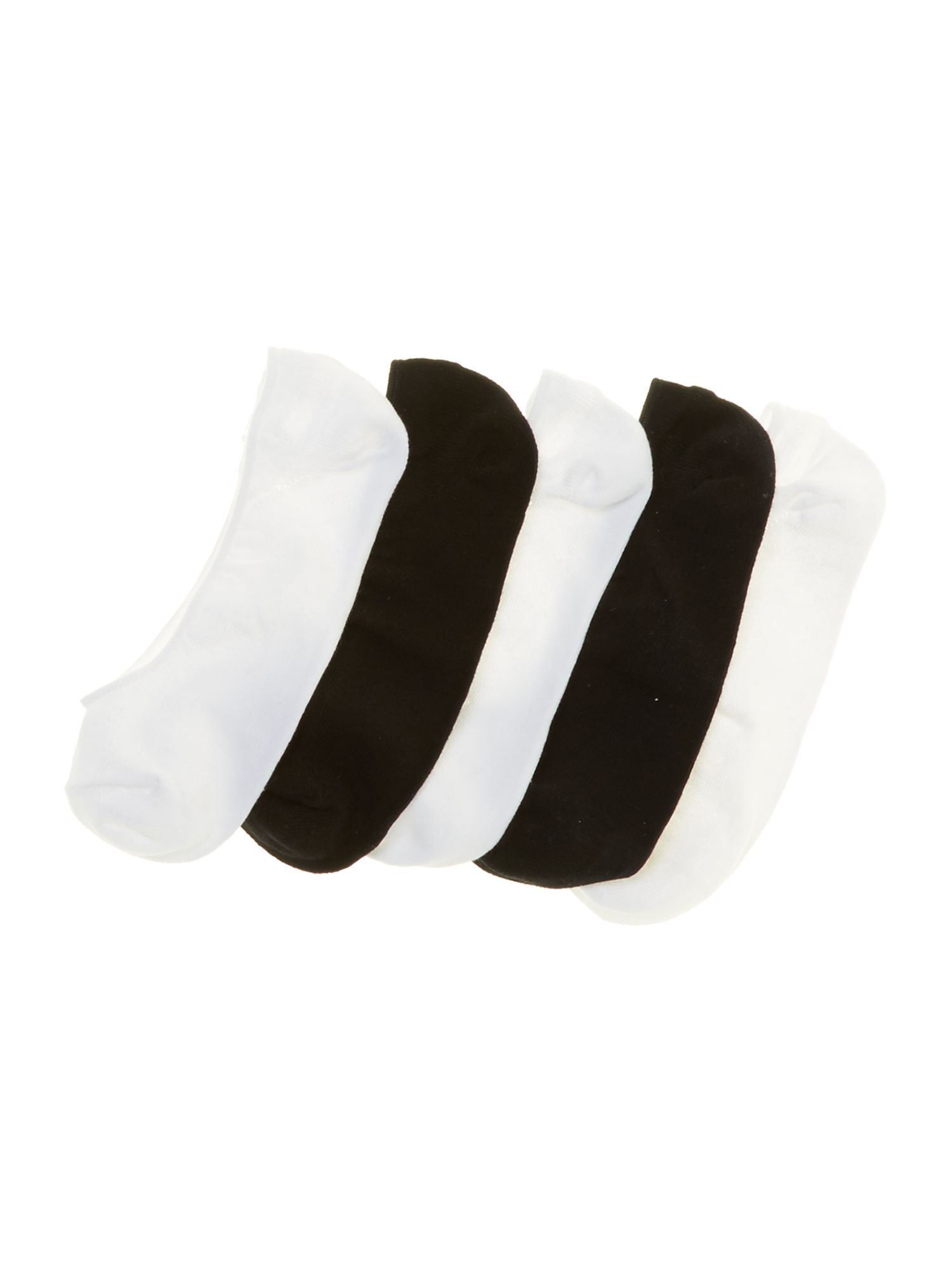 Panda 5 pack trainer liner socks