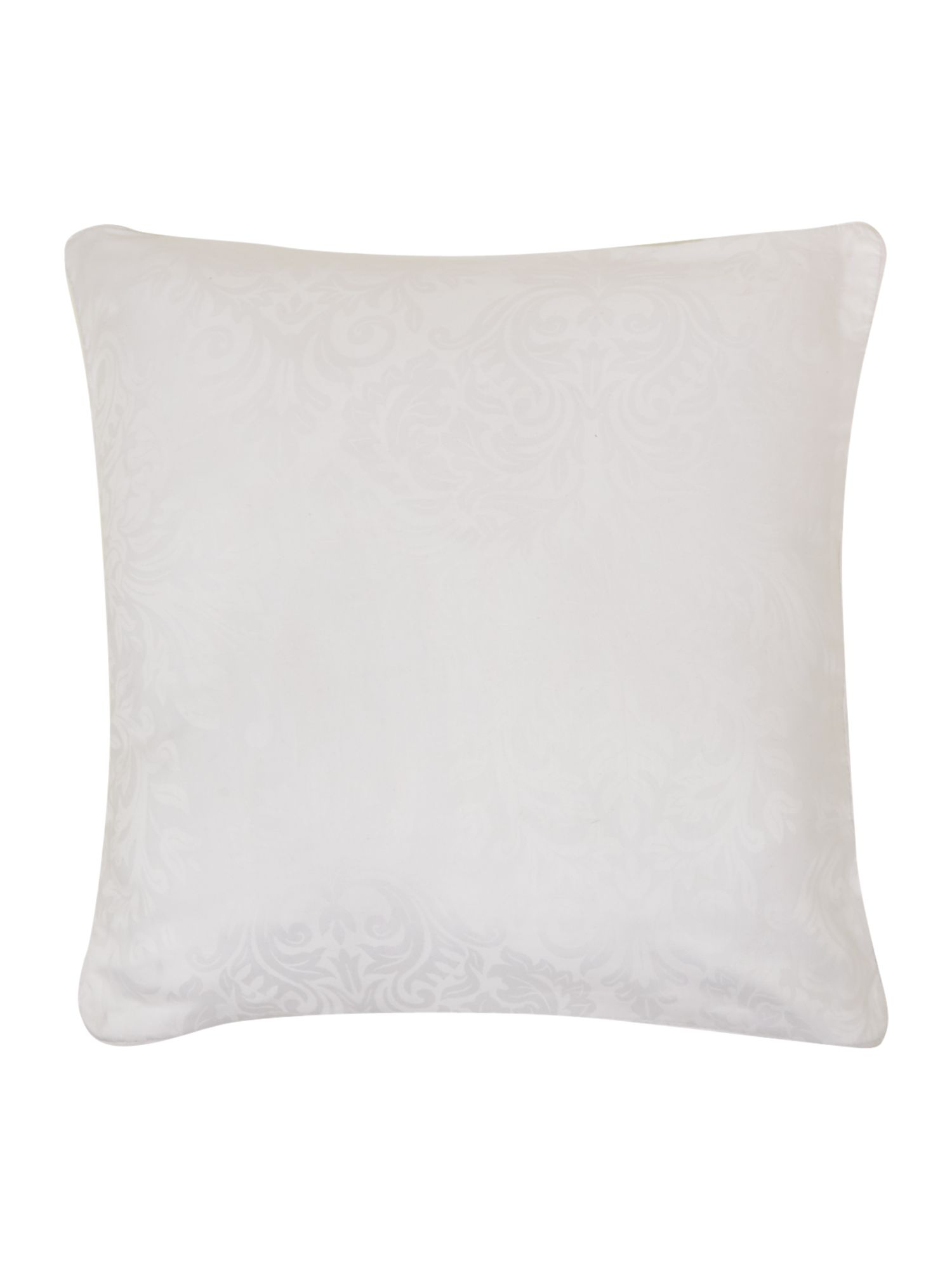 Lhc damask pair of filled cushions white