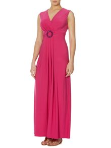 Bethany bead detail maxi dress