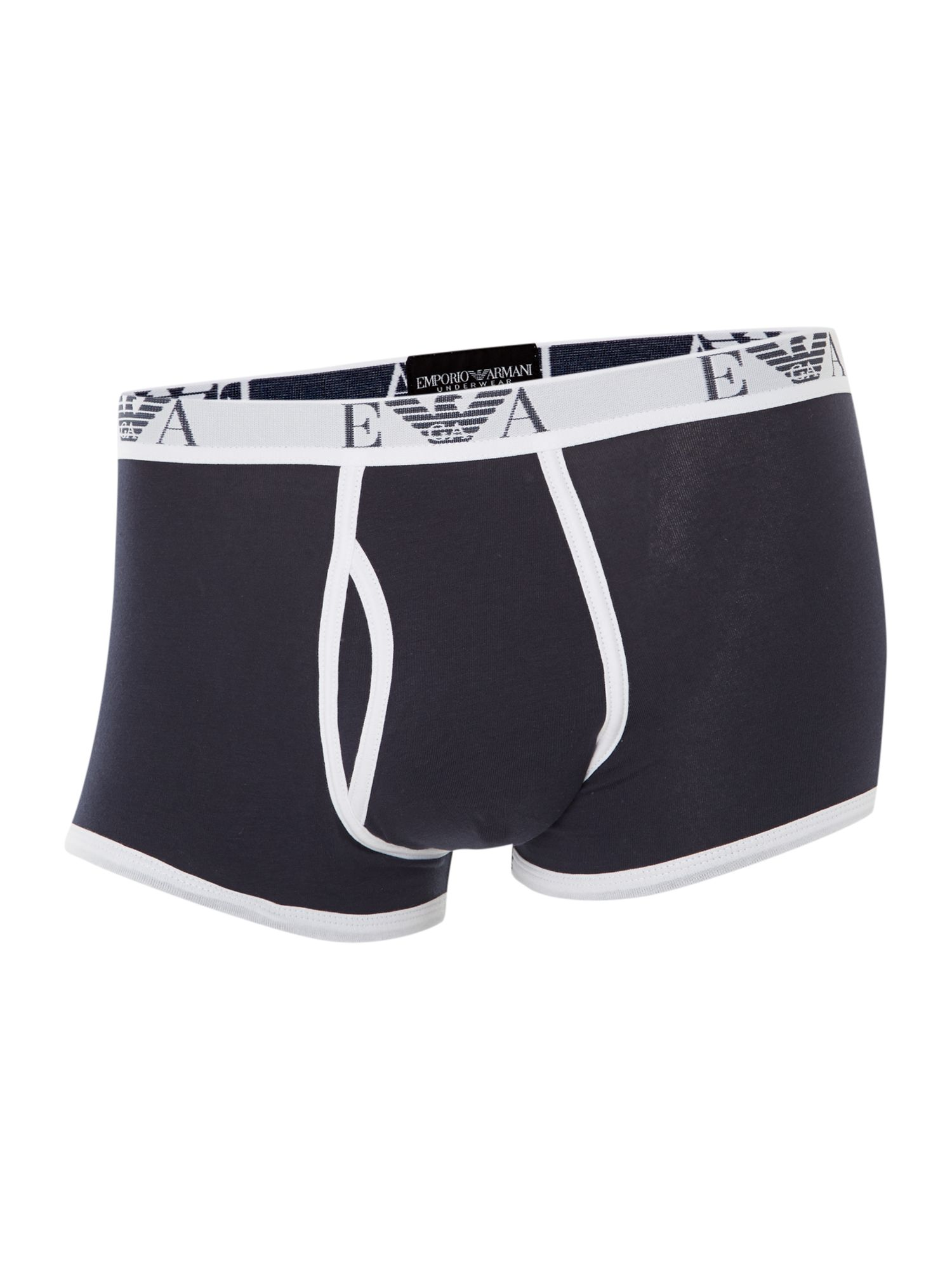 Contrast piping underwear trunk