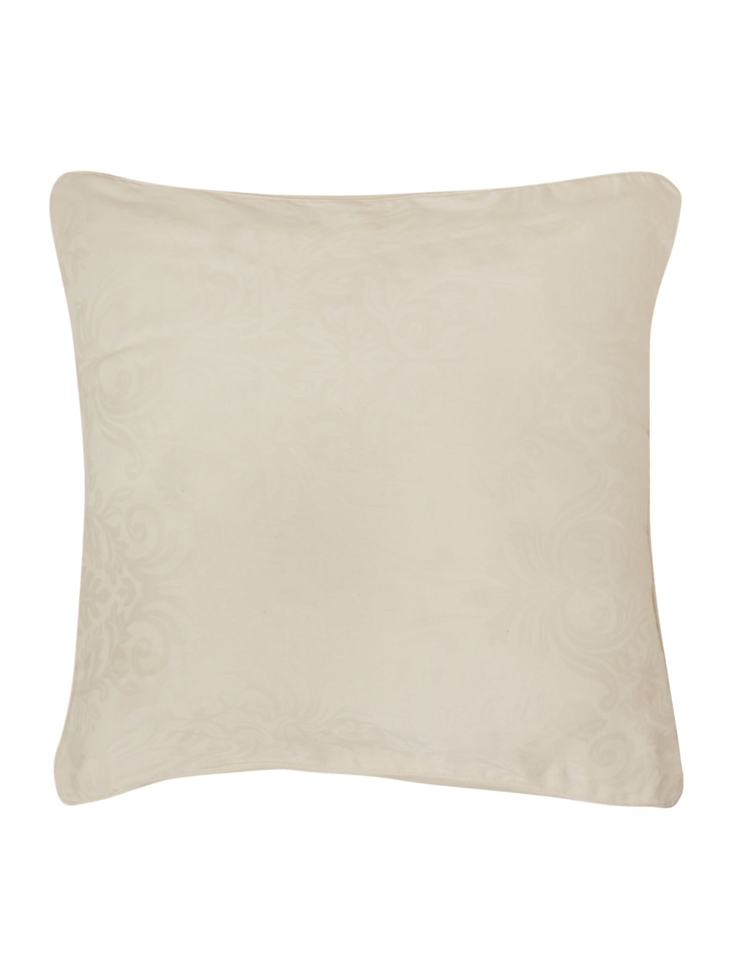 Lhc damask pair of filled cushions cream