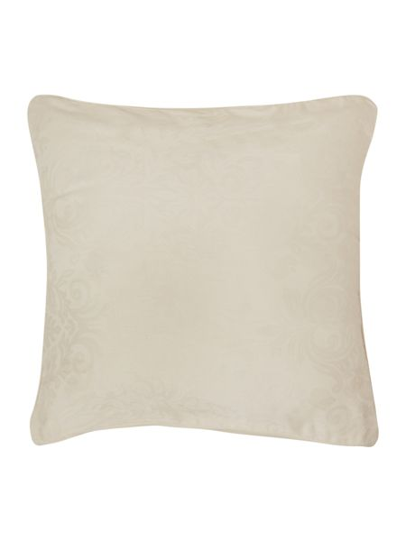 Luxury Hotel Collection Lhc damask pair of filled cushions cream