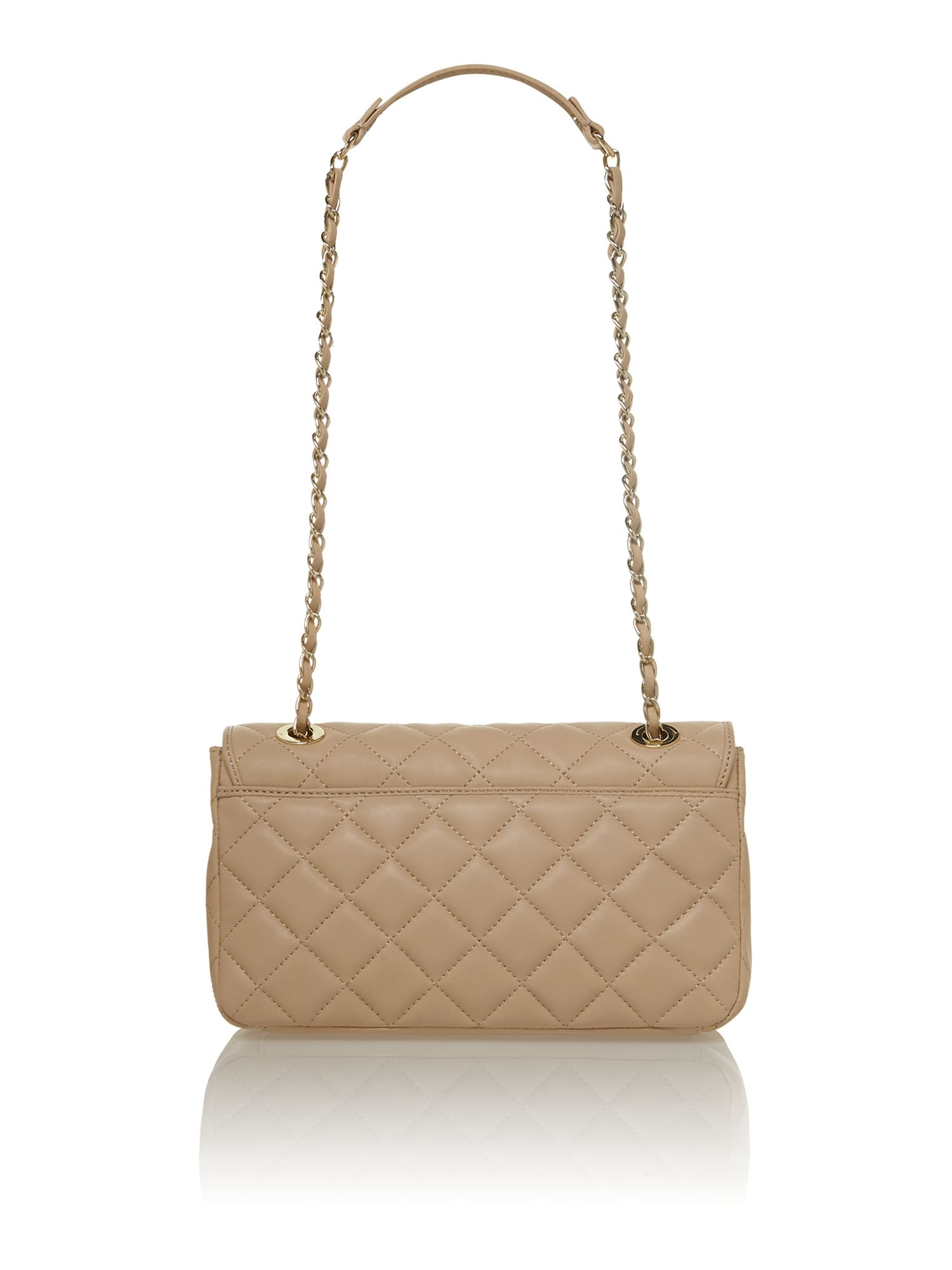 Quilted nappa neutral shoulder bag