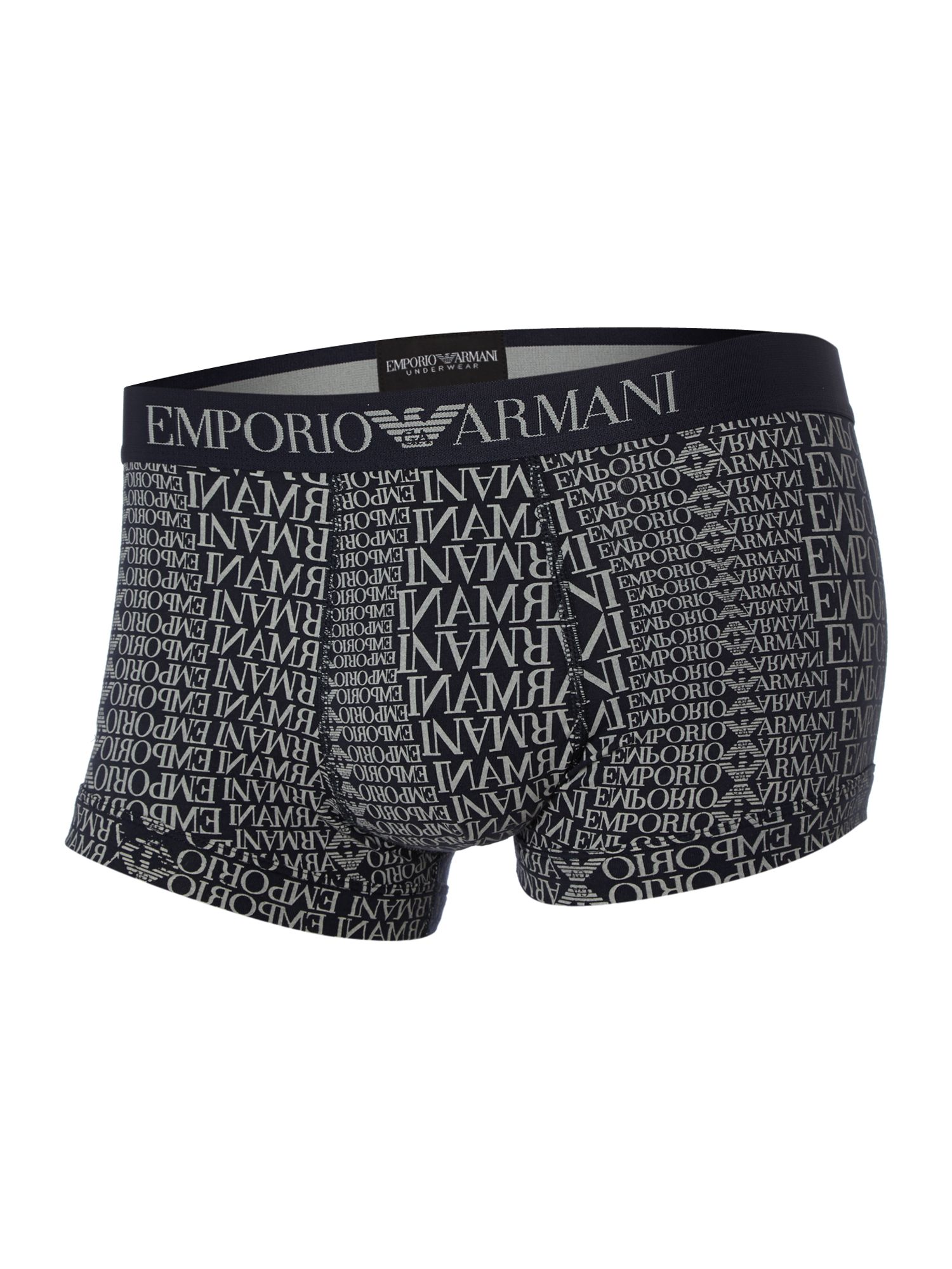 2 pack plain and print underwear trunk